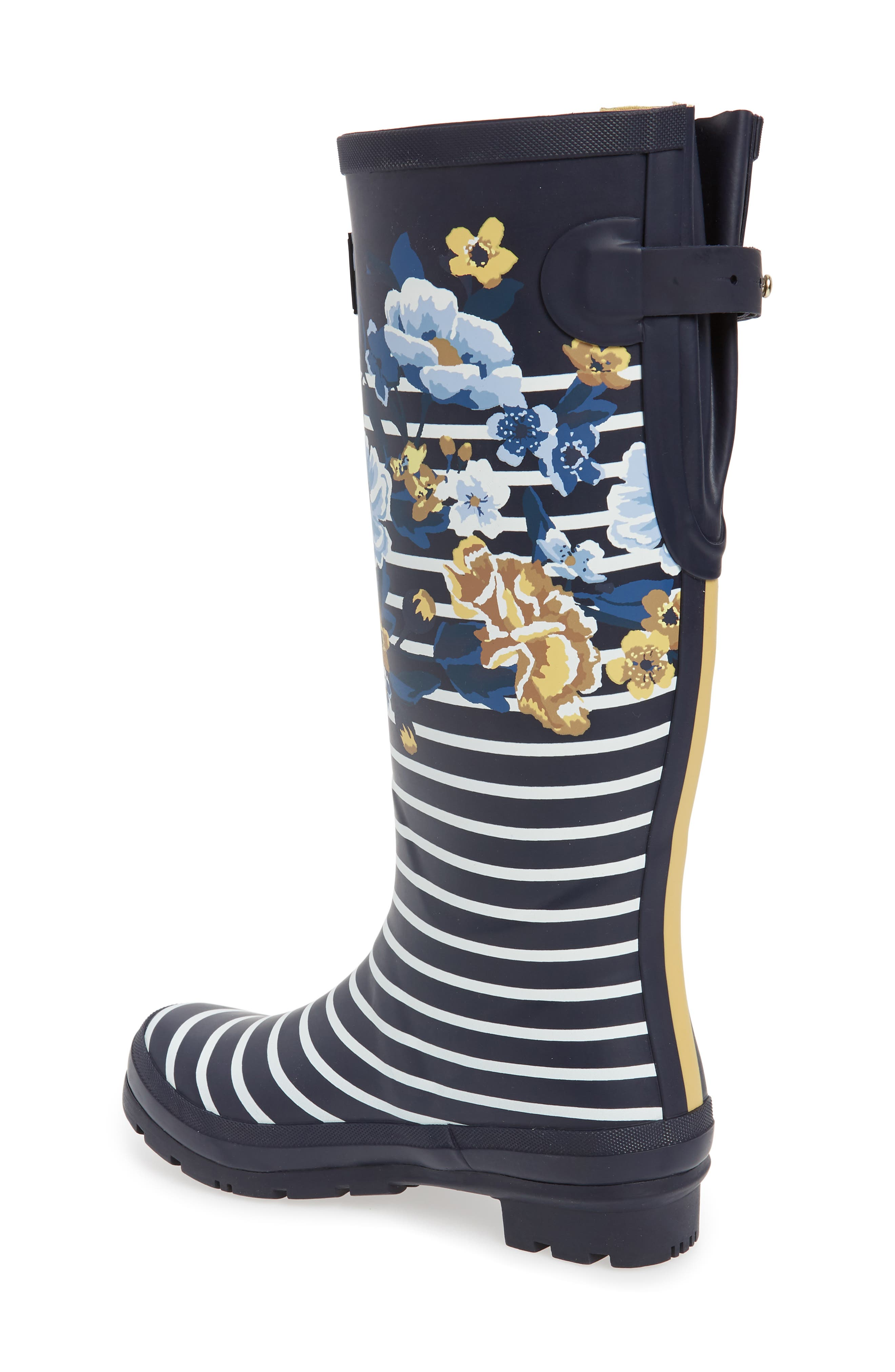 'Welly'PrintRain Boot,                             Alternate thumbnail 2, color,                             NAVY BOTANICAL