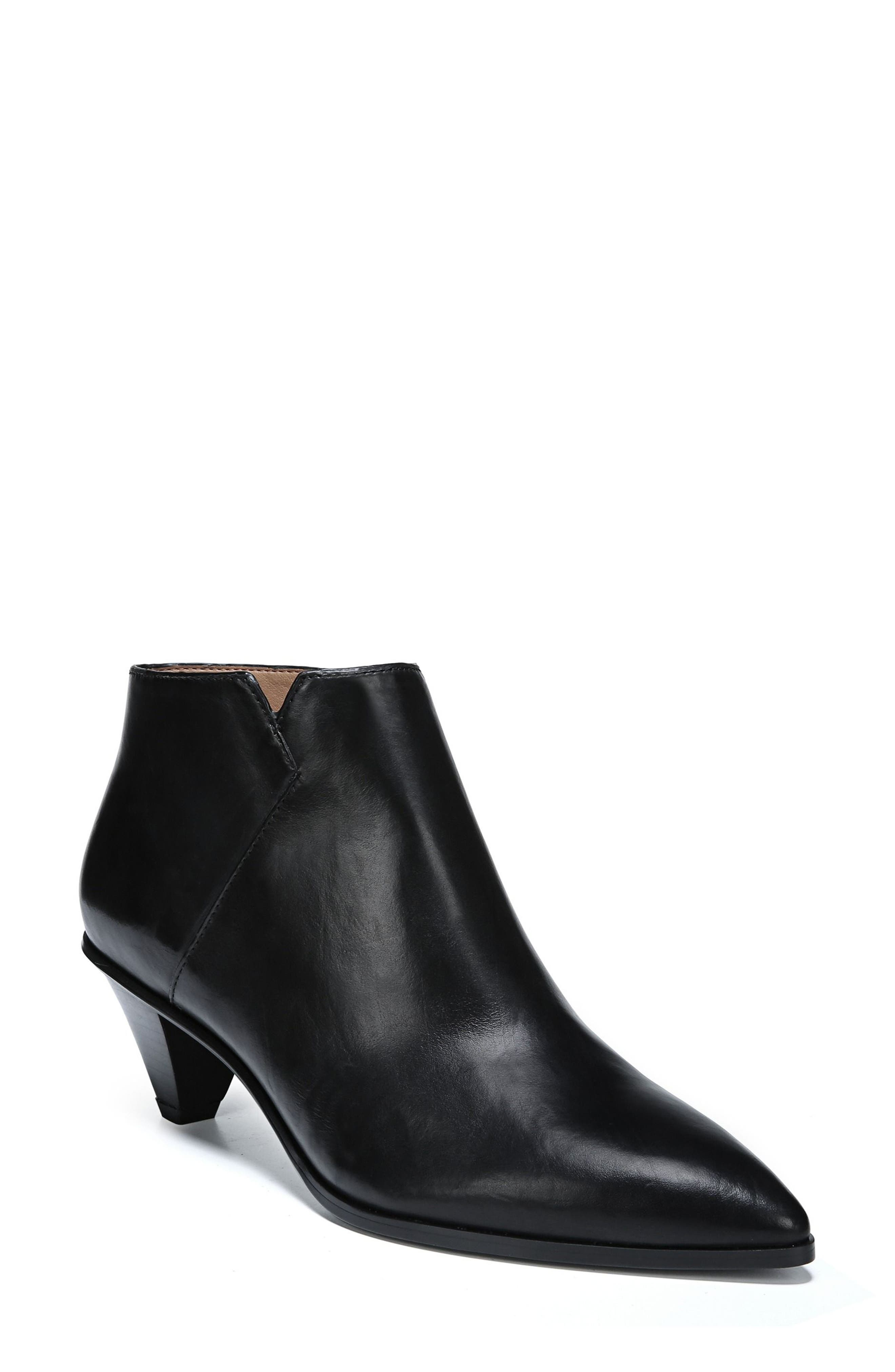 Spectra Bootie,                         Main,                         color, BLACK LEATHER