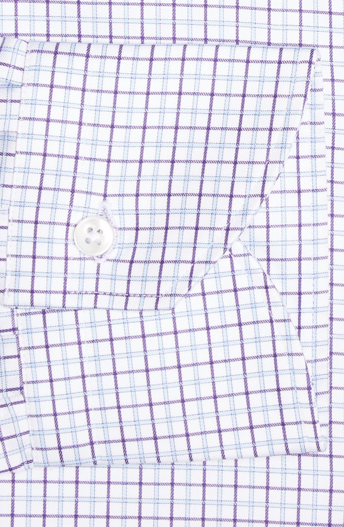 Regular Fit Check Dress Shirt,                             Alternate thumbnail 4, color,                             540