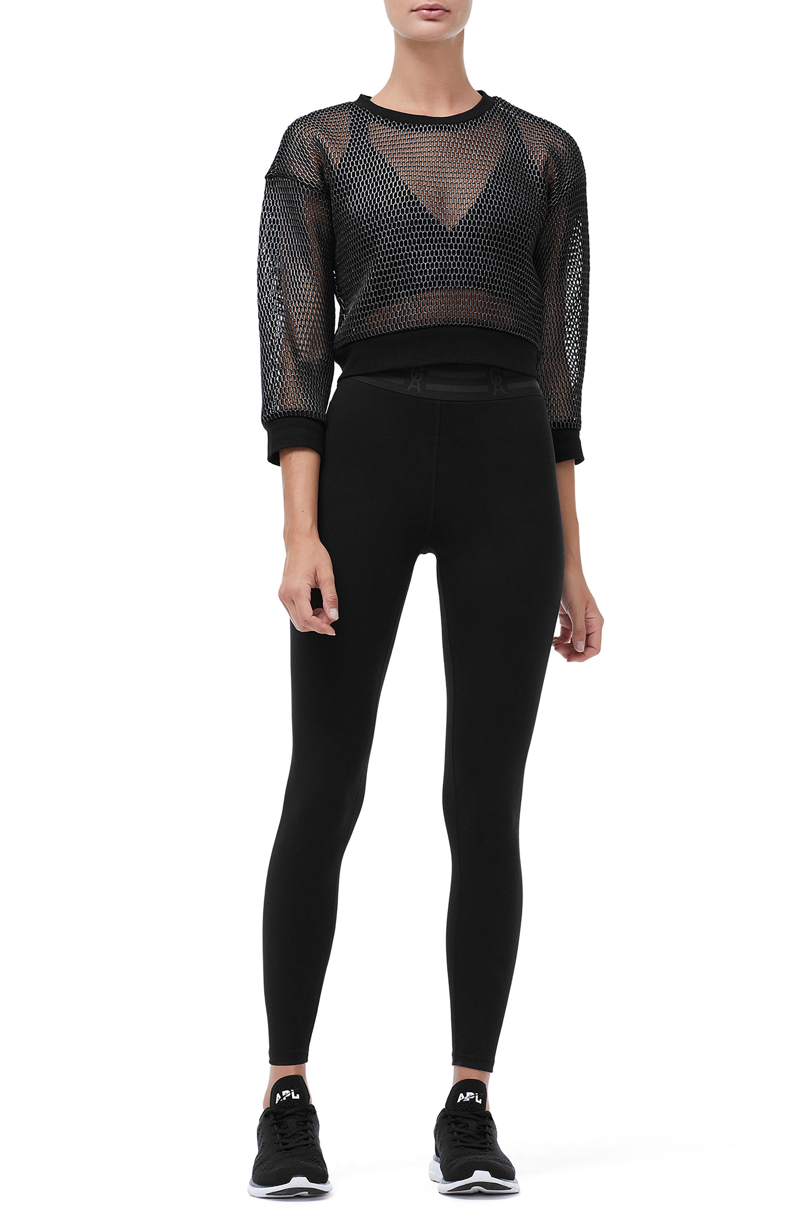 Branded Mesh Pullover Sweatshirt,                             Alternate thumbnail 7, color,                             SILVER001