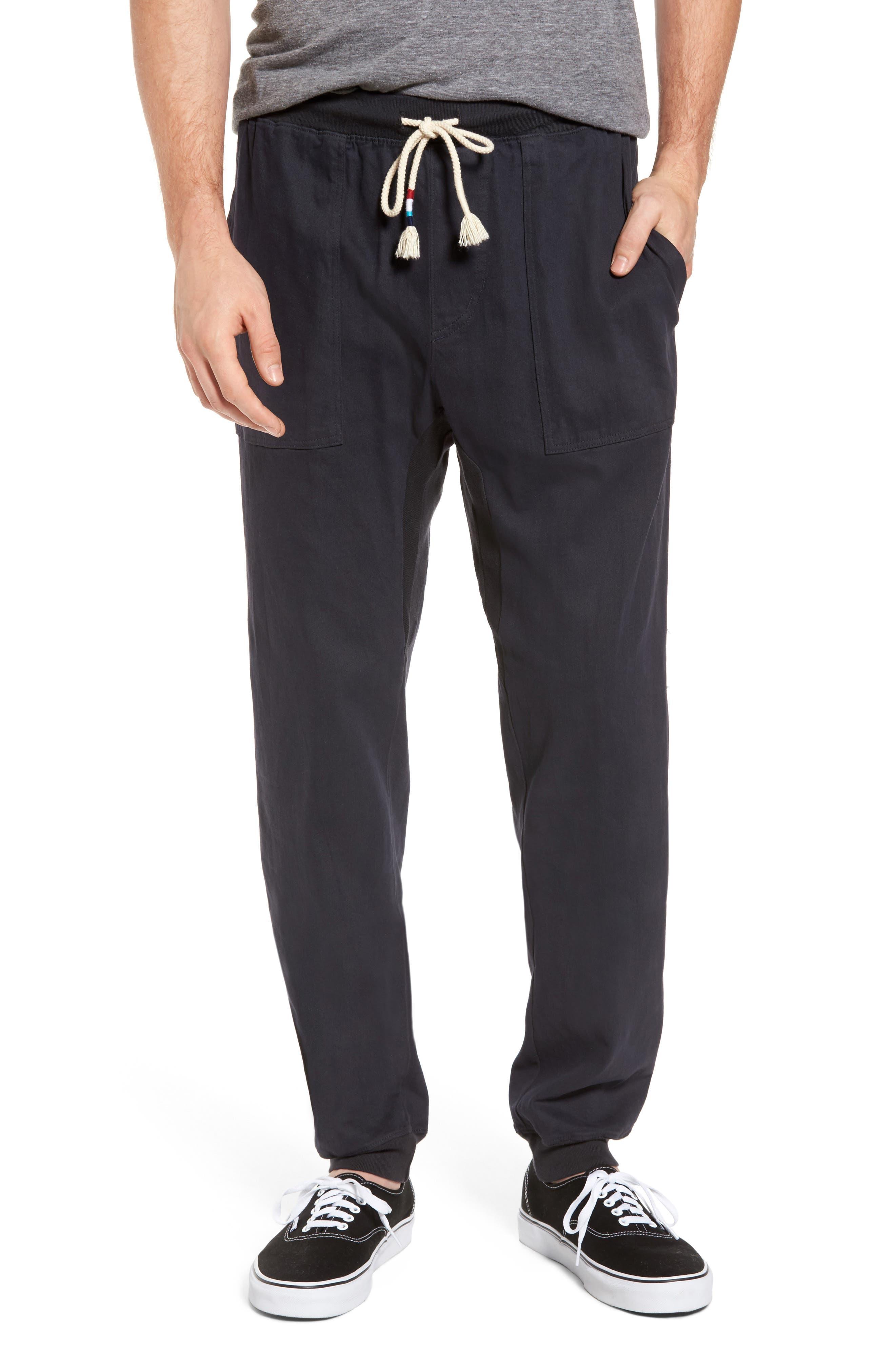 Essential Twill Jogger Pants,                             Main thumbnail 1, color,                             002