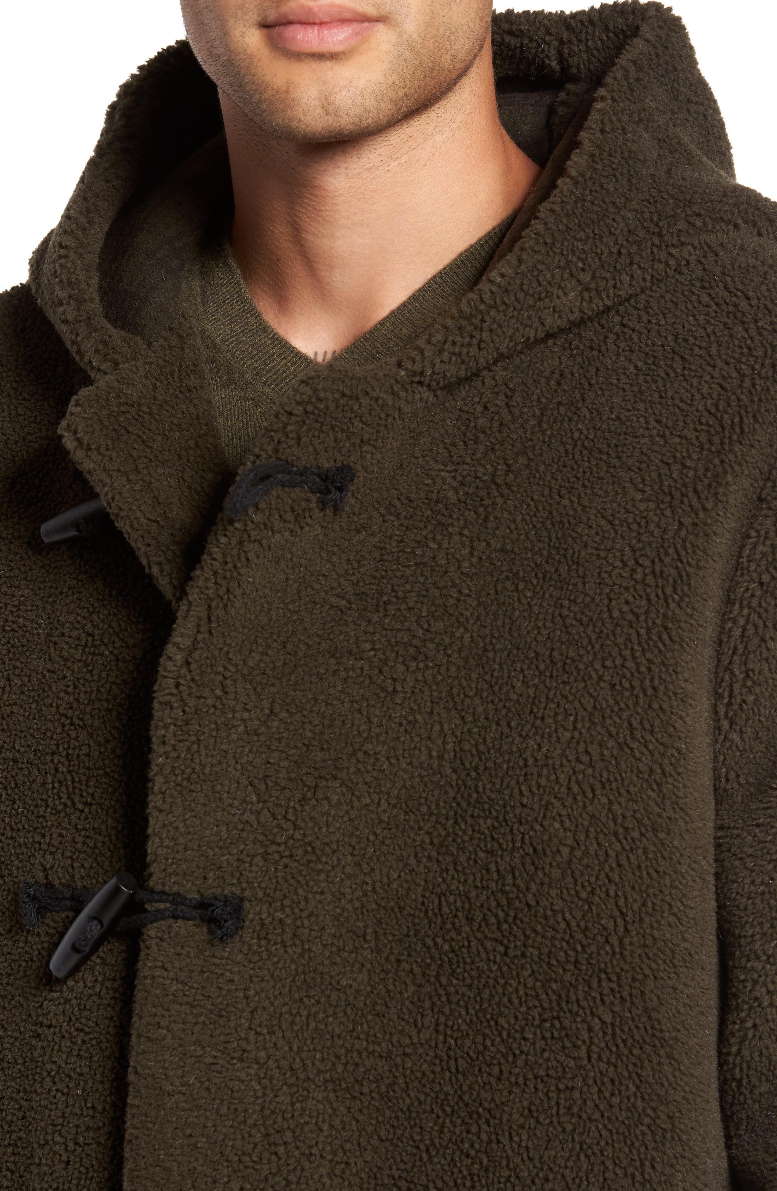Fleece Toggle Coat,                             Alternate thumbnail 4, color,