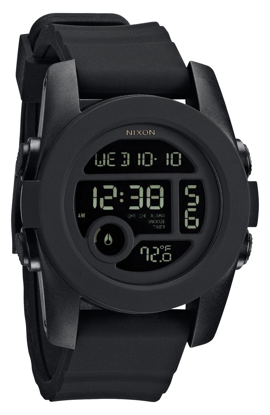 'The Unit 40' Round Digital Watch, 40mm,                             Main thumbnail 1, color,                             001