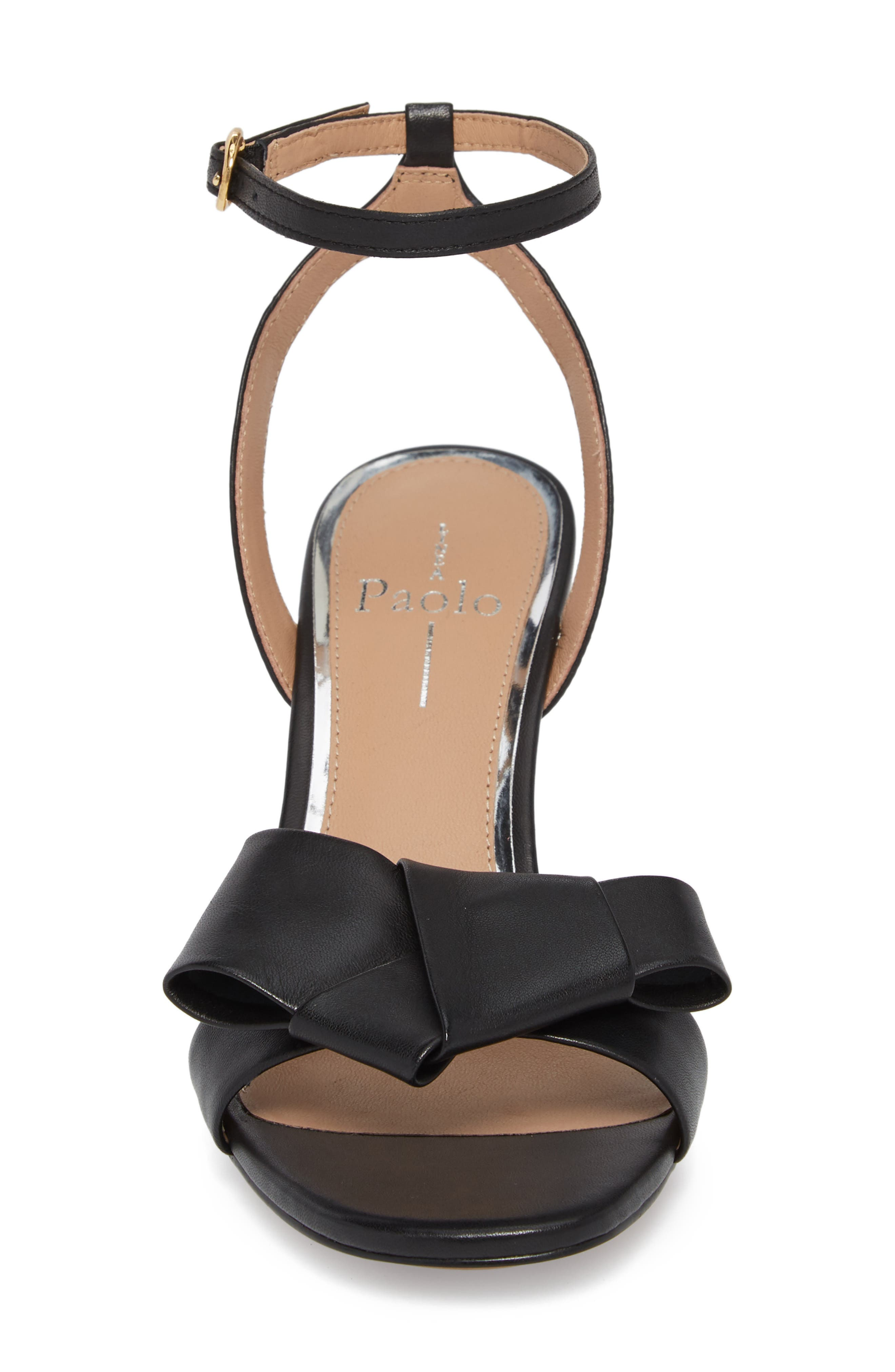 Haven Ankle Strap Sandal,                             Alternate thumbnail 4, color,                             BLACK LEATHER