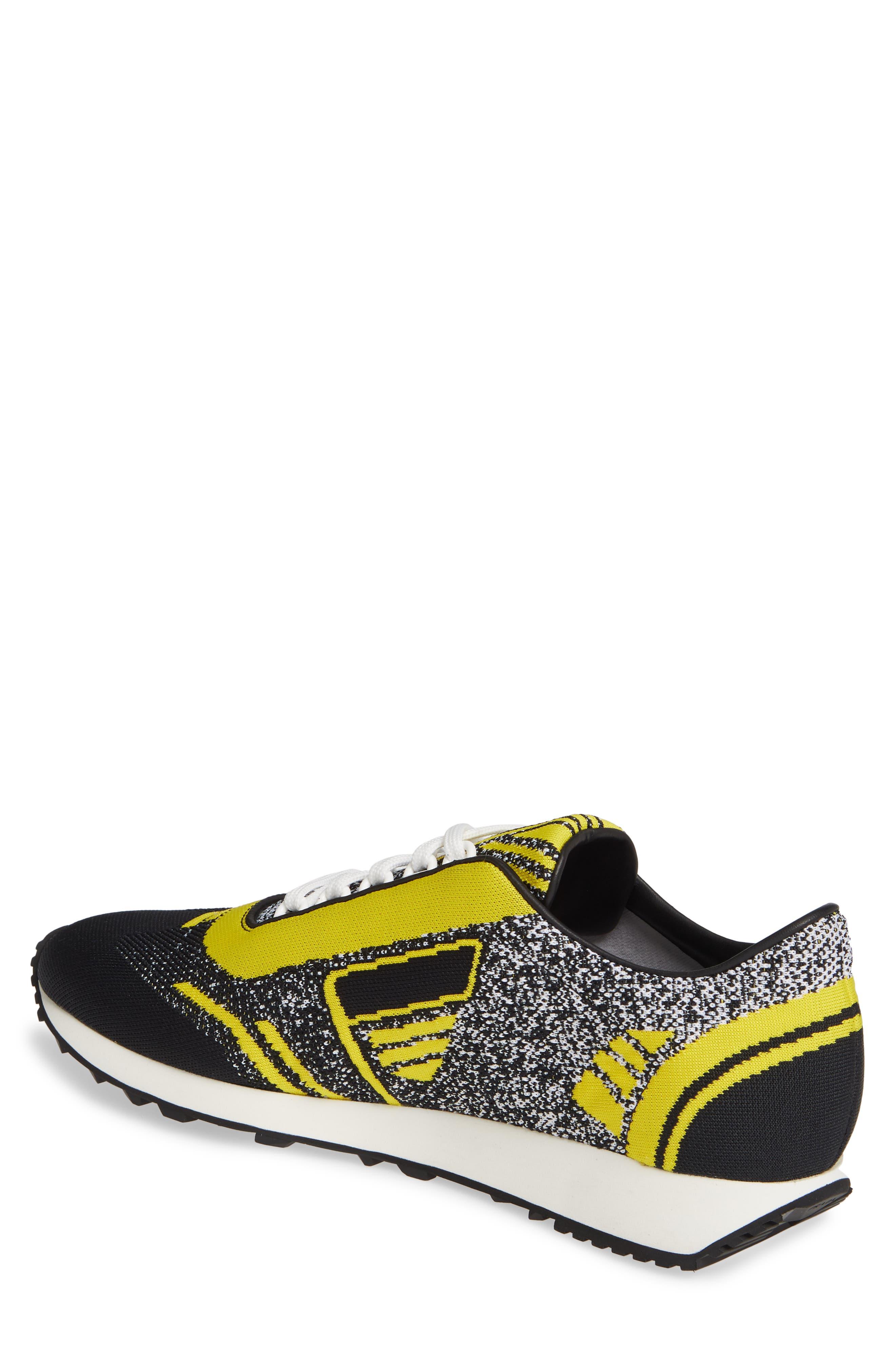 Retro Trainer Sneaker,                             Alternate thumbnail 2, color,                             NERO GIALLO