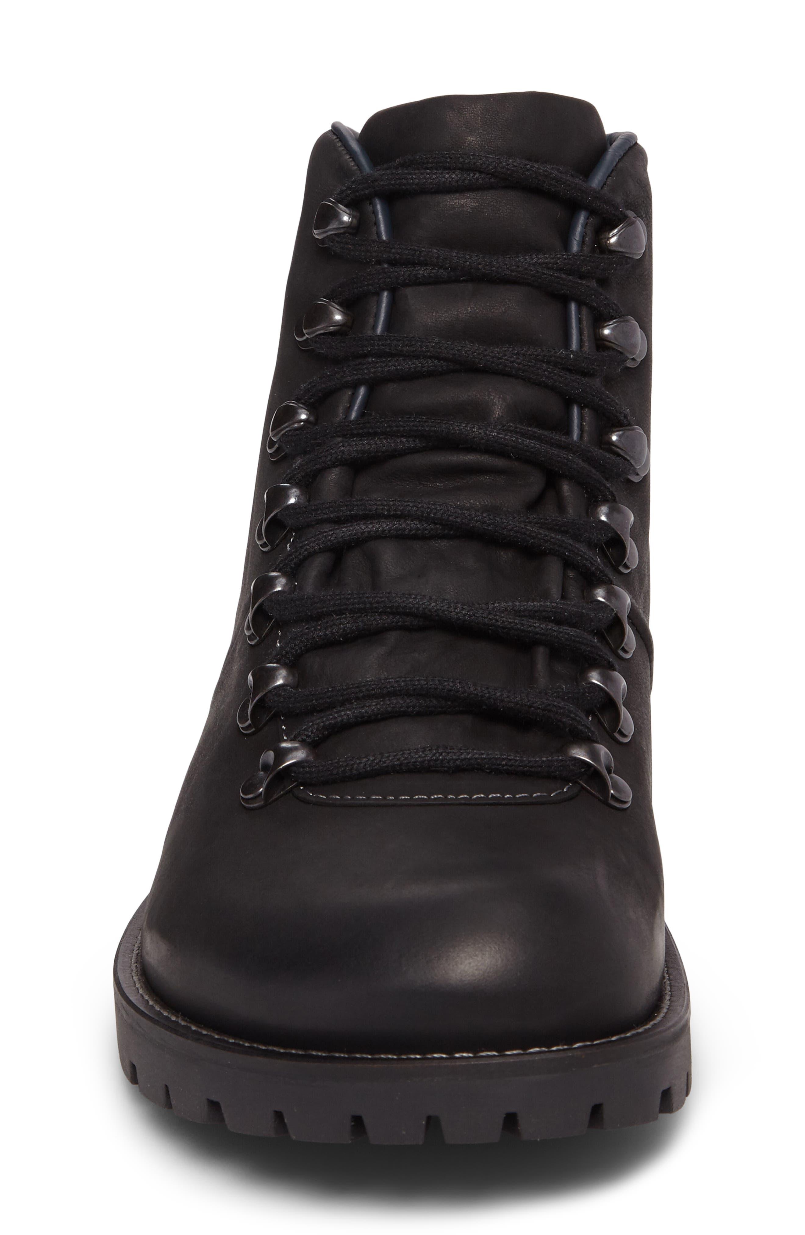 Hancock Plain Toe Boot,                             Alternate thumbnail 4, color,                             BLACK