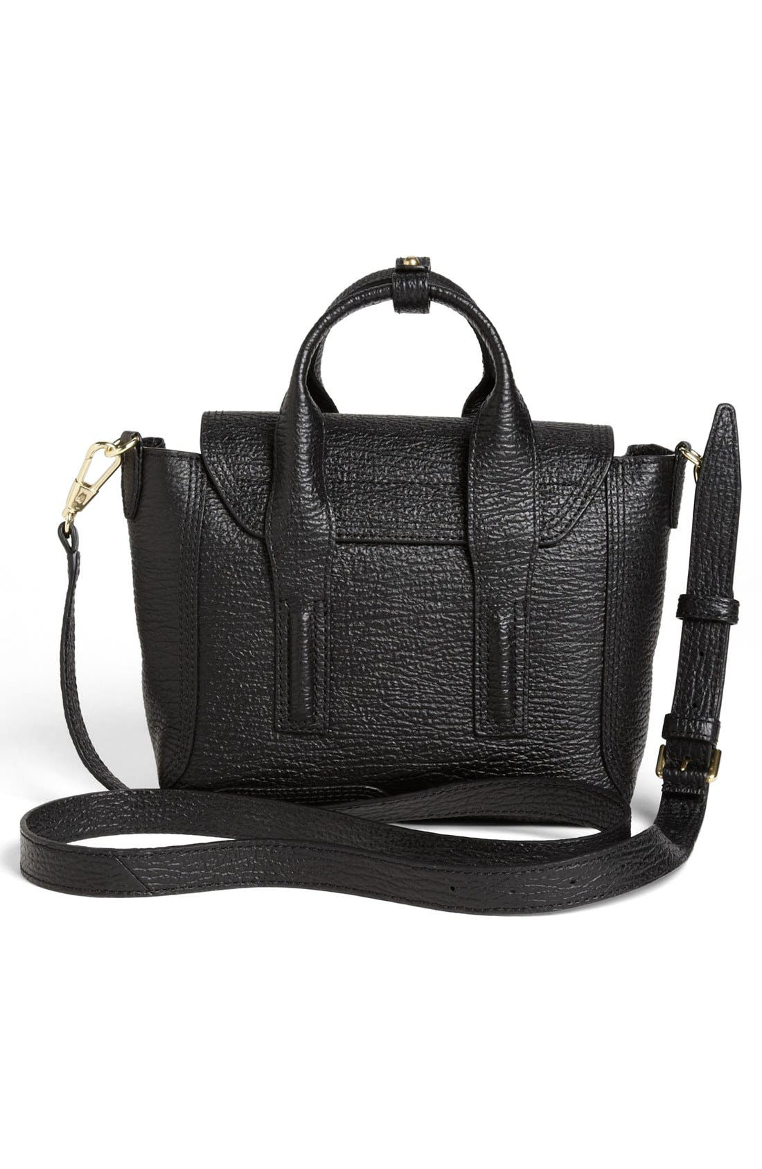 'Mini Pashli' Leather Satchel,                             Alternate thumbnail 3, color,                             BLACK/ GOLD HDWR