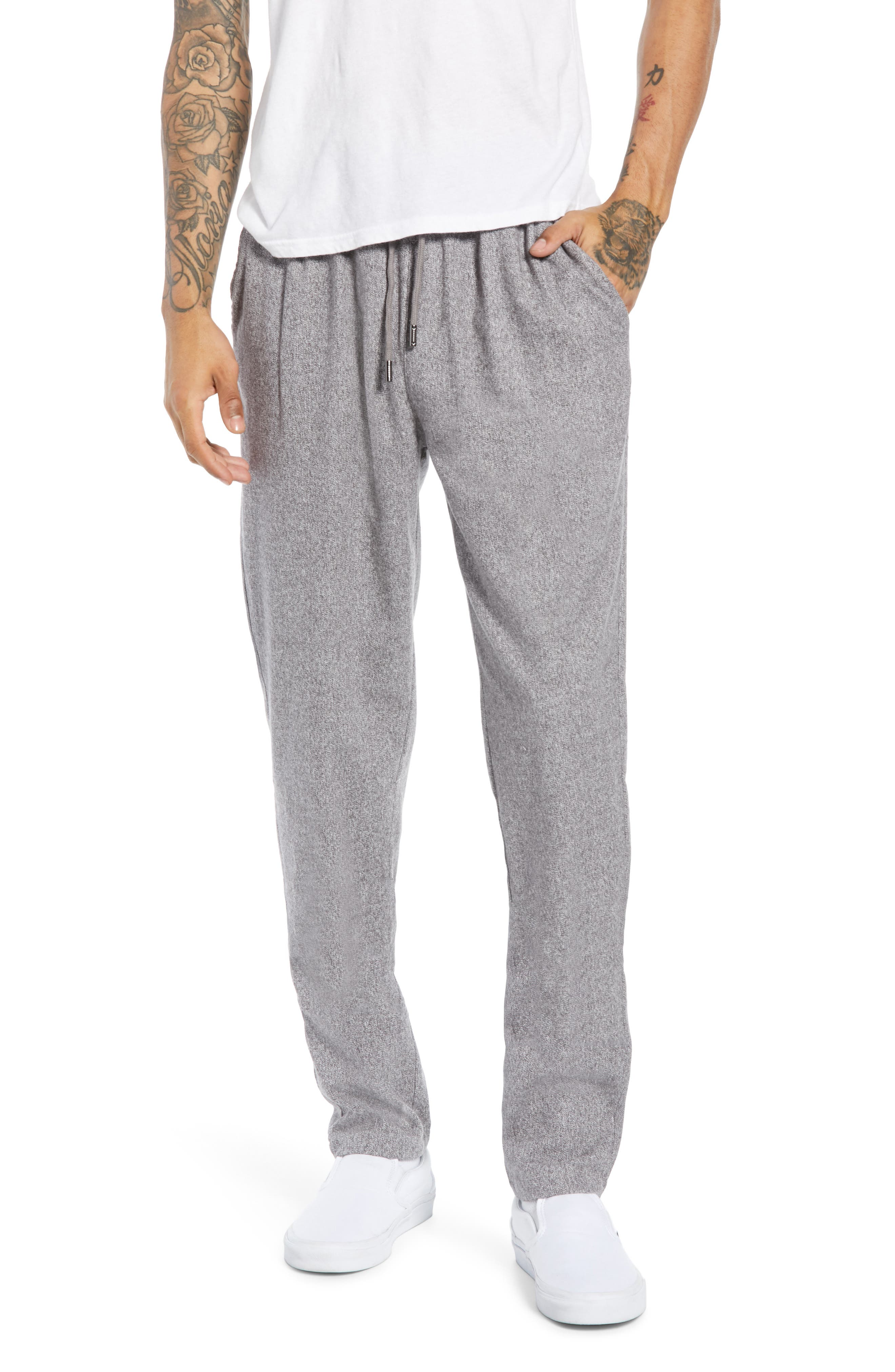 NATIVE YOUTH Slim Fit Knit Pants in Grey