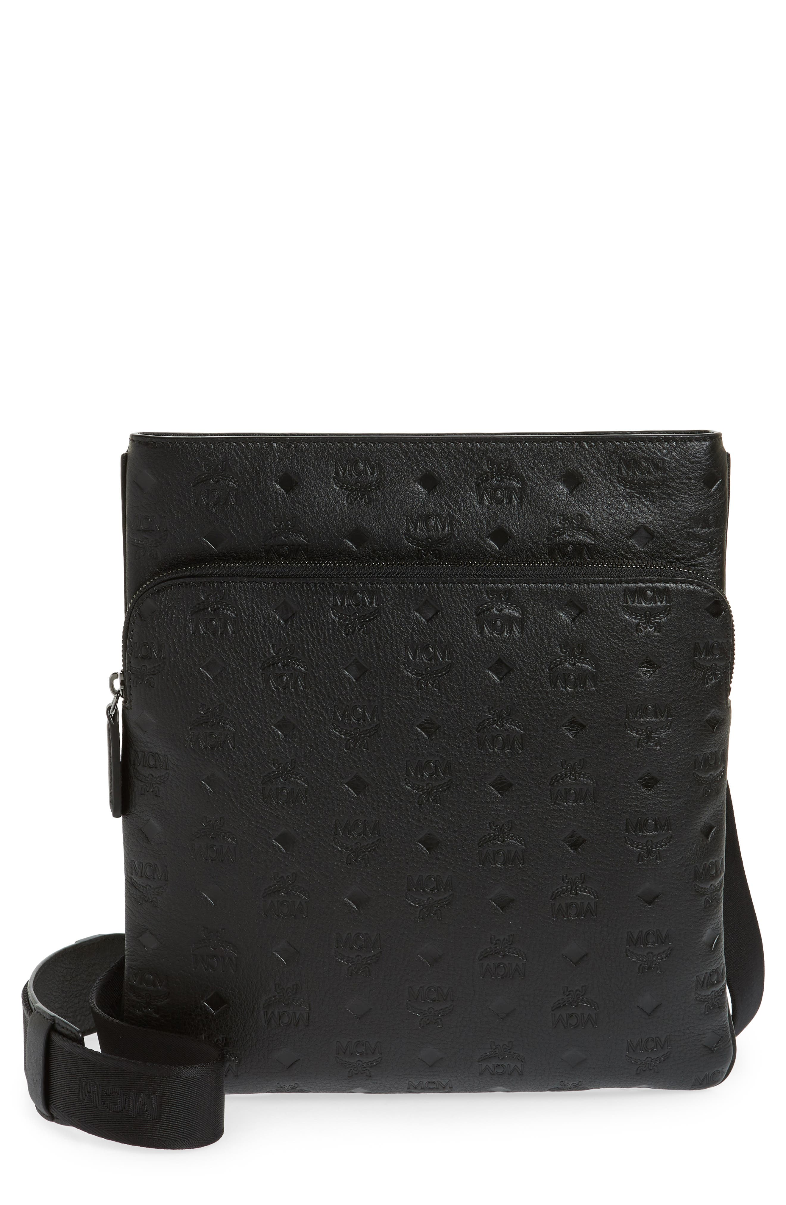 Ottomar Leather Crossbody Bag,                         Main,                         color, 001