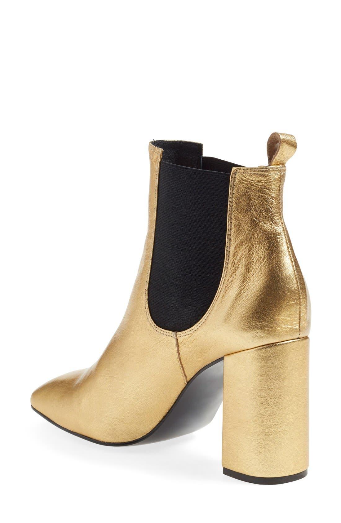 'Maria' Chelsea Block Heel Boot,                             Alternate thumbnail 5, color,                             710
