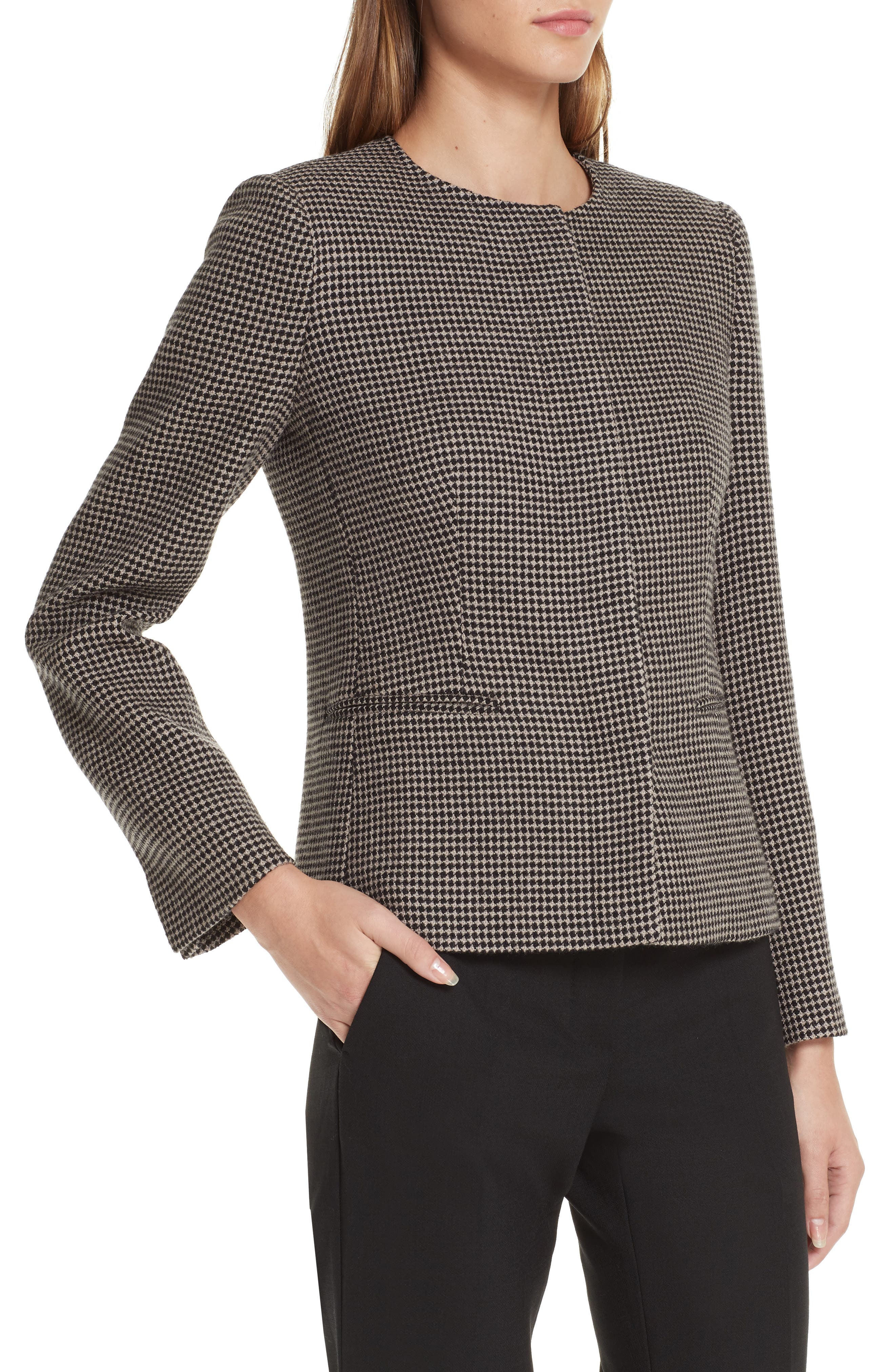 Spigola Wool & Cashmere Jacket,                             Alternate thumbnail 4, color,                             TURTLEDOVE