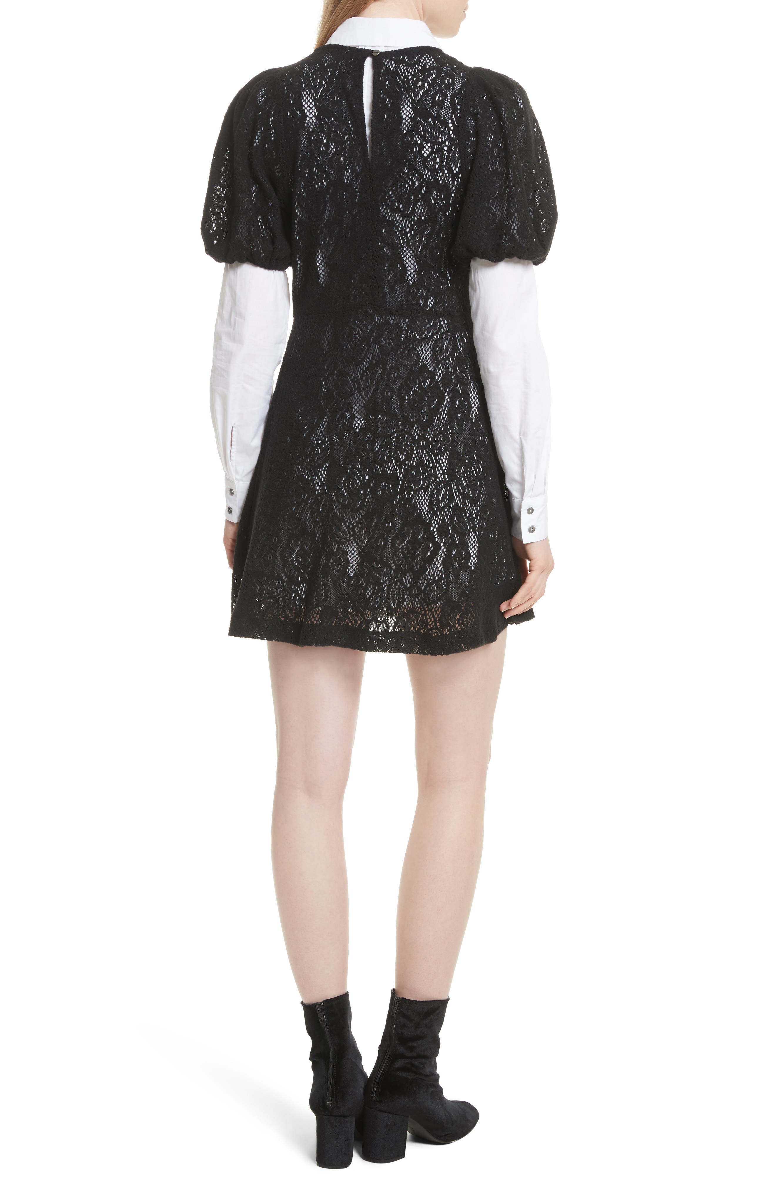 Pretty Princess Dress Shirtdress with Lace Overlay,                             Alternate thumbnail 2, color,                             019