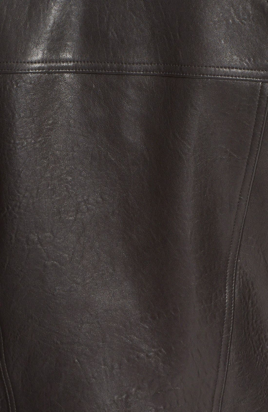 'Padre' Lambskin Leather Jacketwith Genuine ShearlingCollar,                             Alternate thumbnail 3, color,                             001