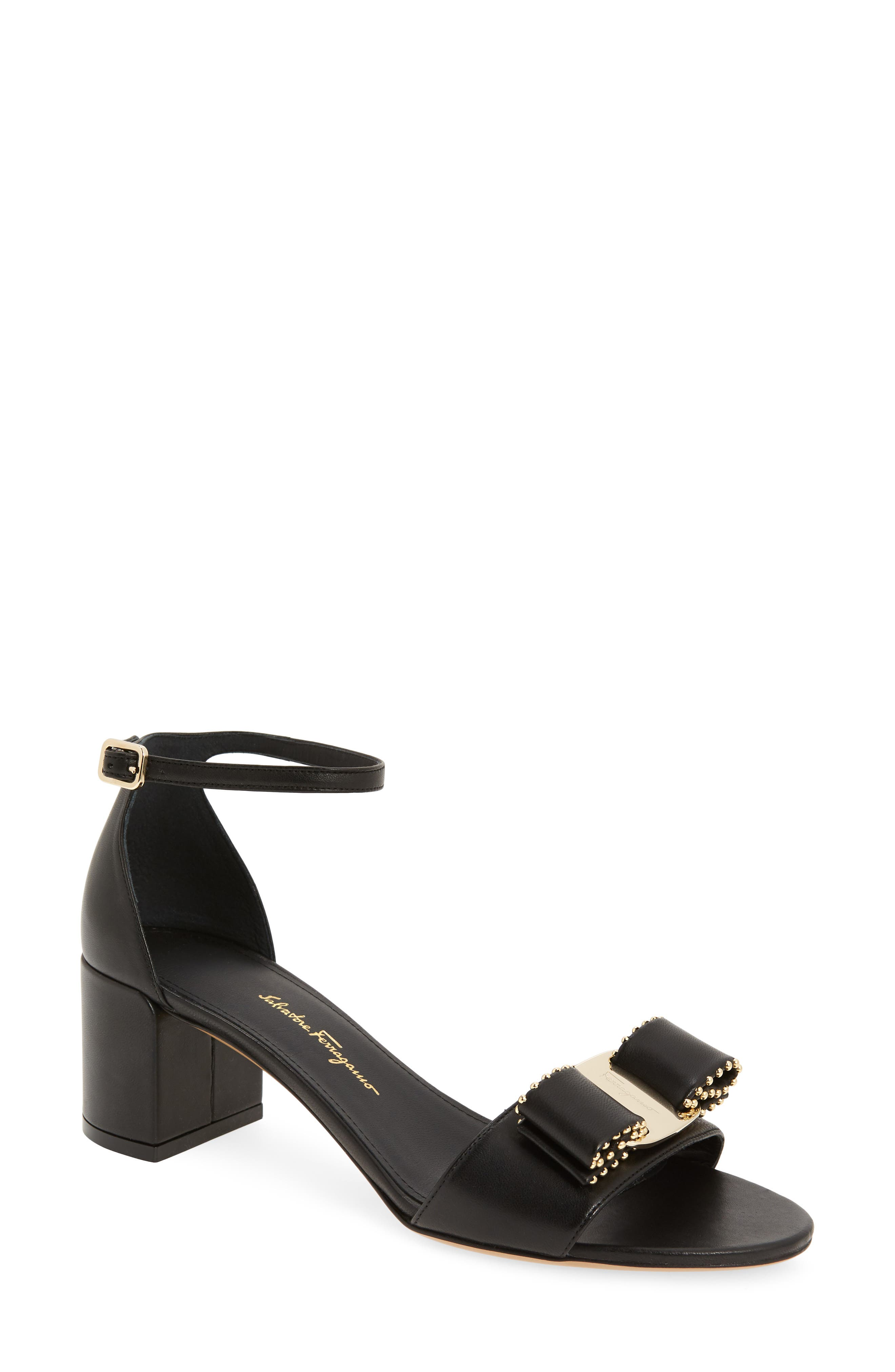 Gavina Sandal,                         Main,                         color, BLACK/ GOLD