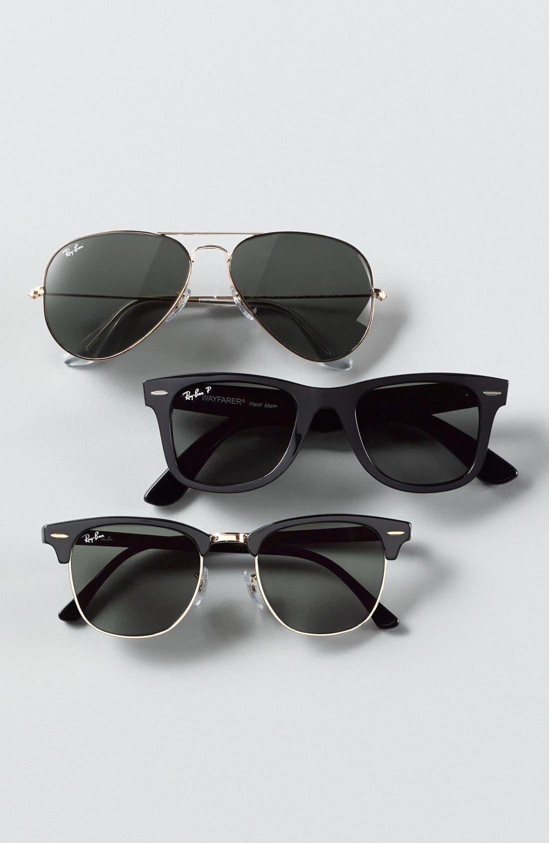 'Classic Wayfarer' 50mm Polarized Sunglasses,                         Main,                         color, 310