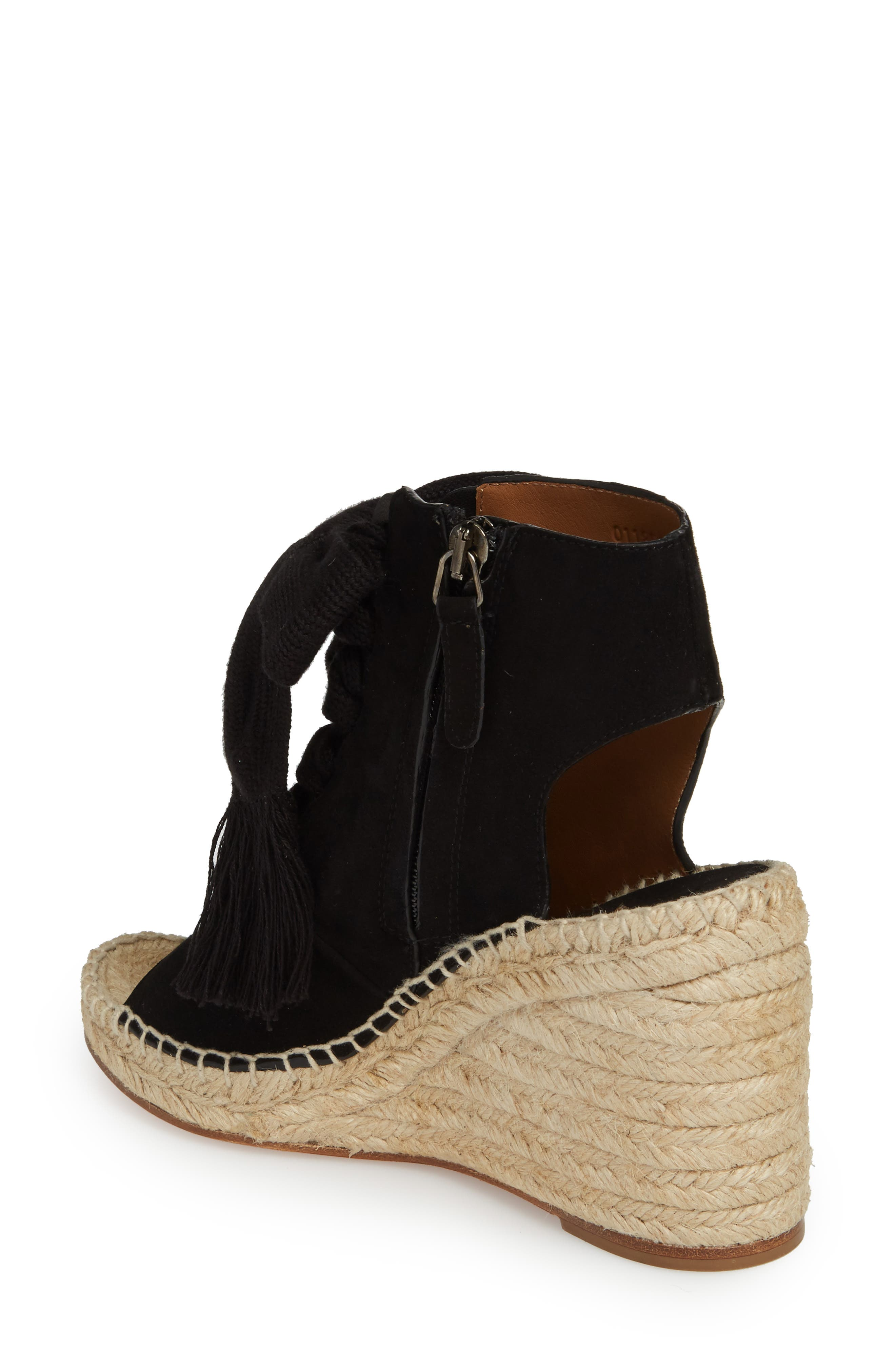 Harper Peep Toe Espadrille Bootie,                             Alternate thumbnail 3, color,