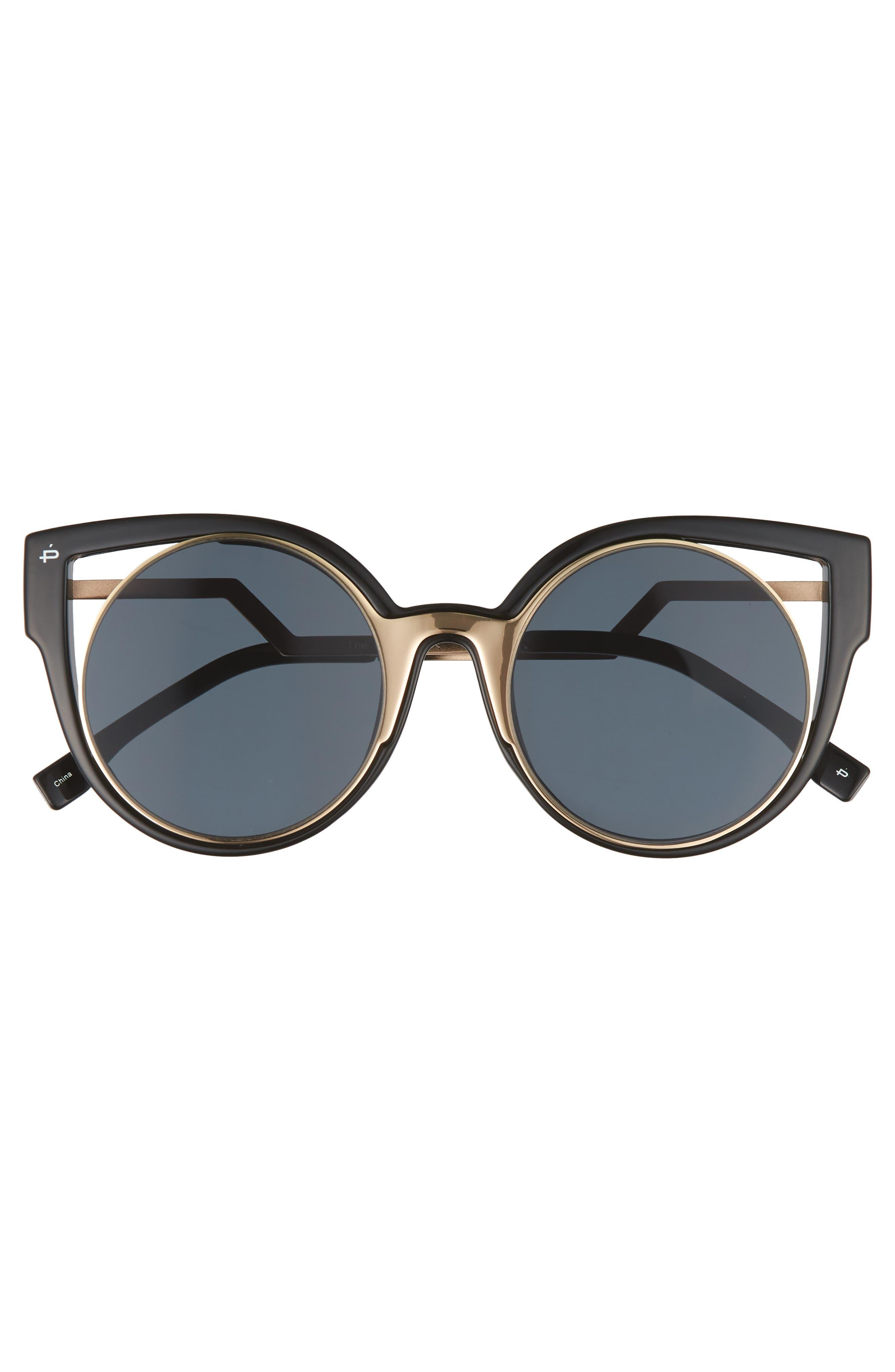 Privé Revaux The Feminist 47mm Cat Eye Sunglasses,                             Alternate thumbnail 3, color,                             001