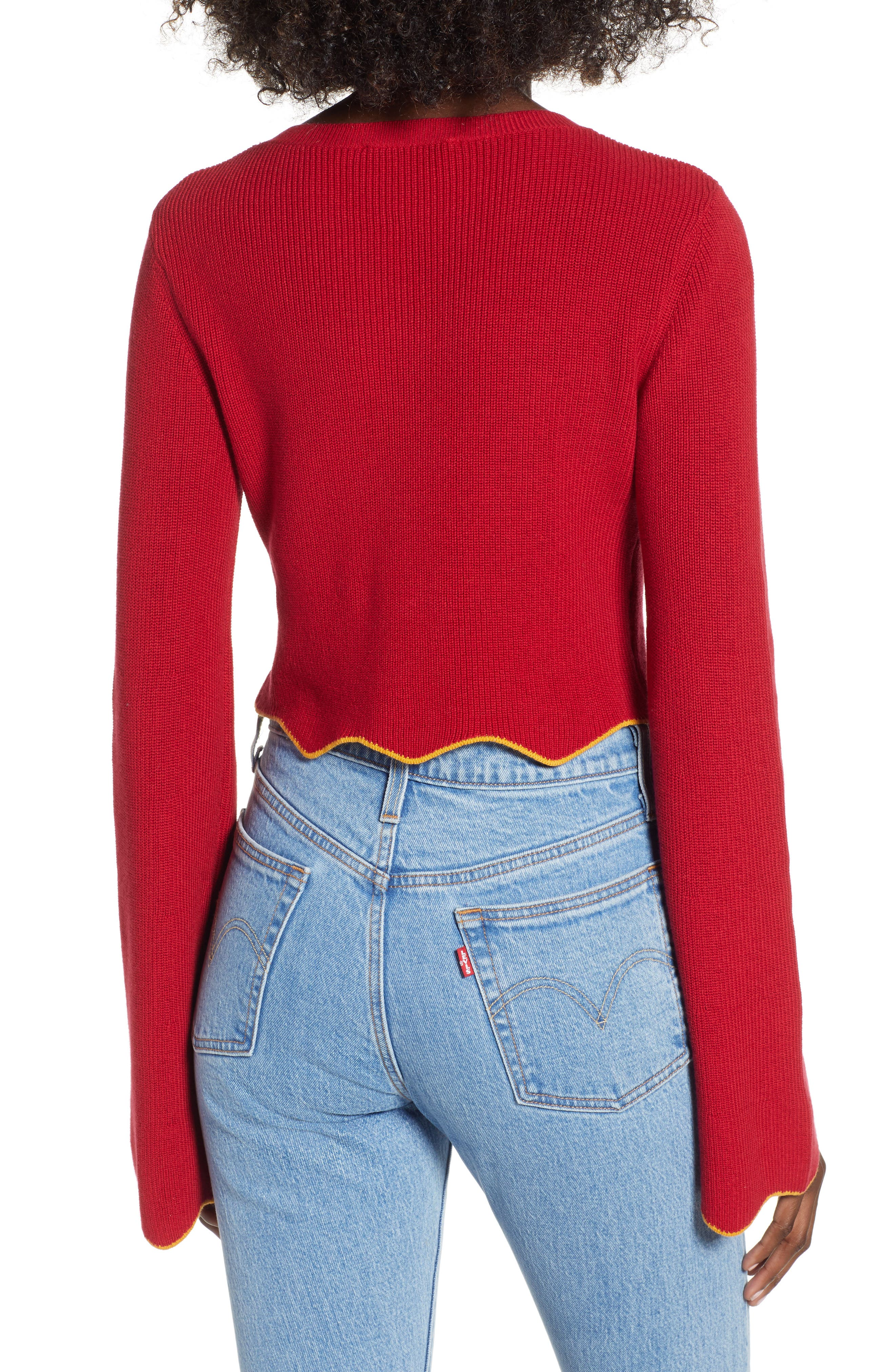 THE FIFTH LABEL,                             Headquarters Knit Crop Top,                             Alternate thumbnail 2, color,                             600