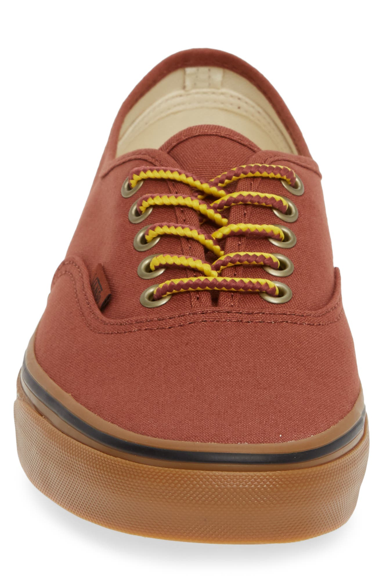 Authentic Sneaker,                             Alternate thumbnail 4, color,                             SEQUOIA/ BROWN