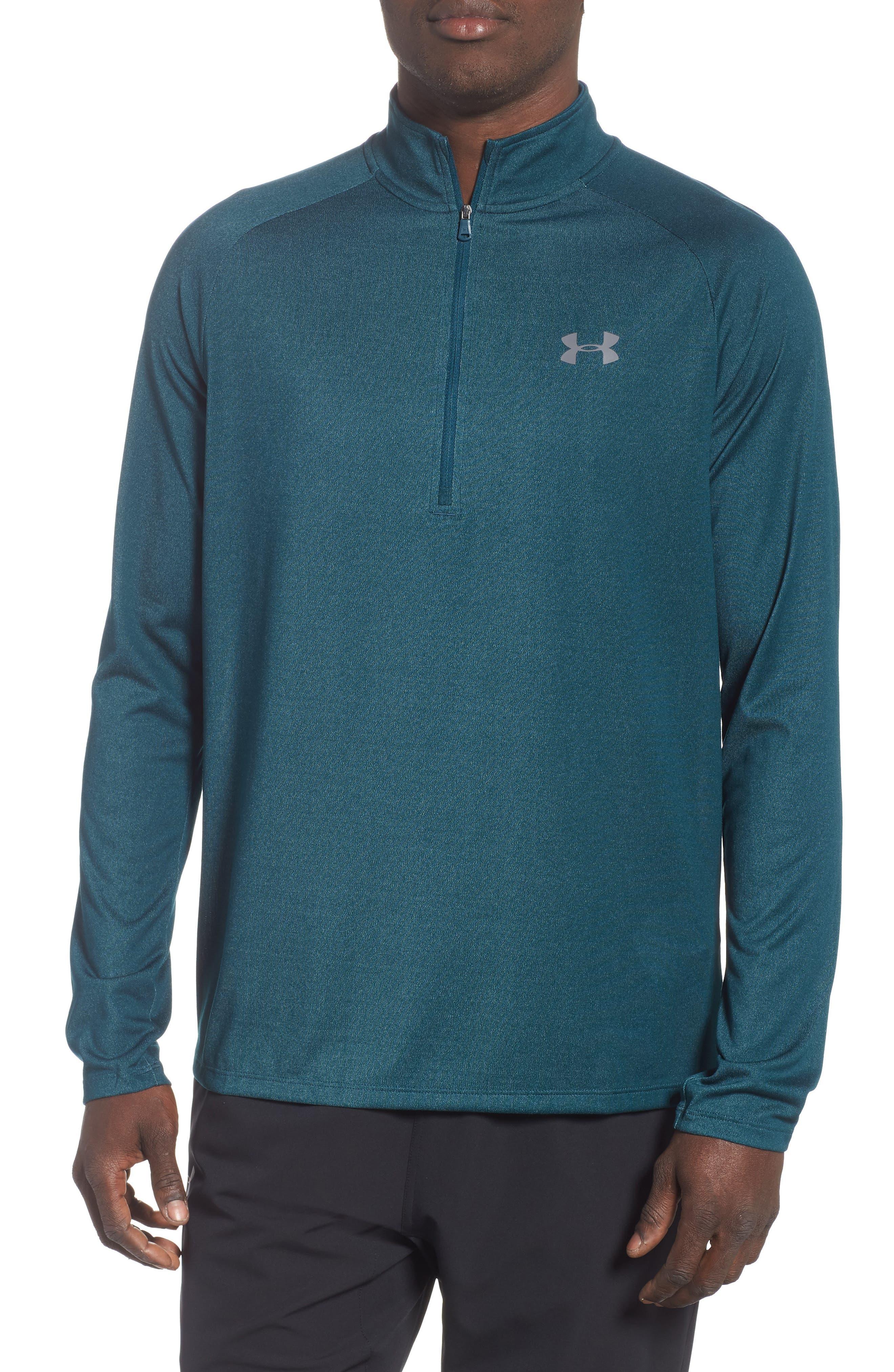 Tech Half Zip Sweatshirt,                         Main,                         color, TEAL