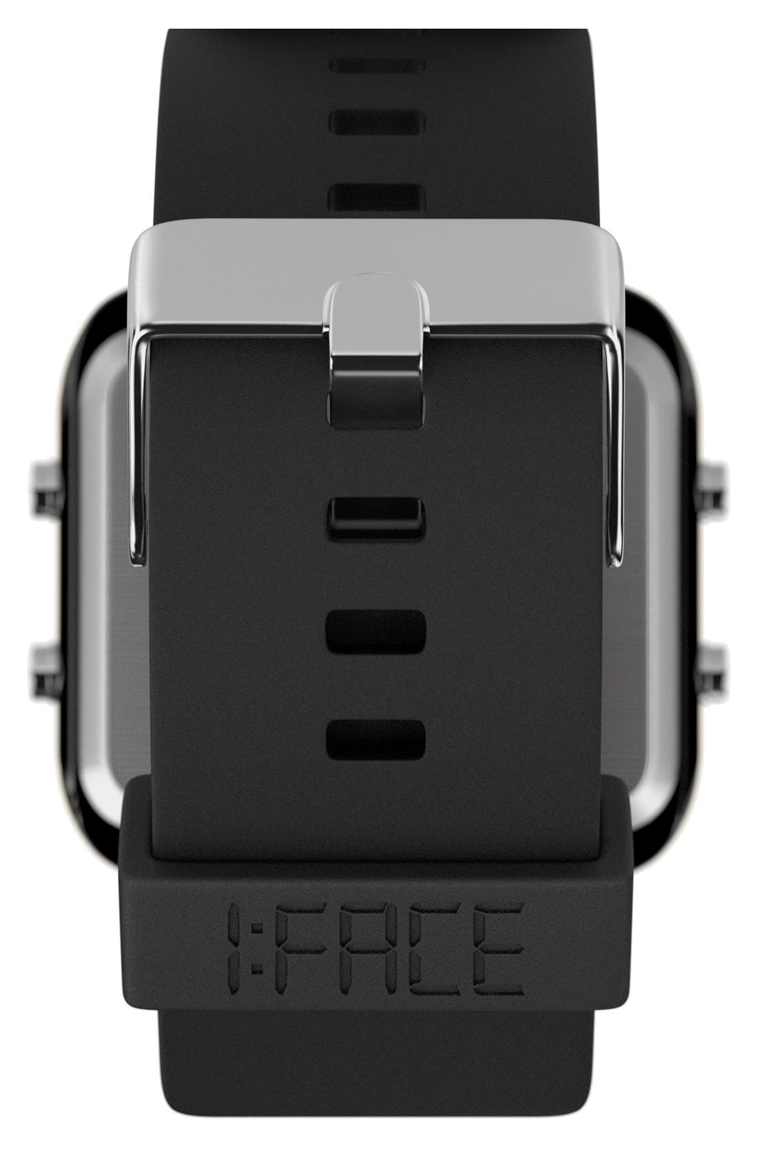 1:FACE,                             'Cancer' Square Digital Silicone Strap Watch, 38mm,                             Alternate thumbnail 4, color,                             001