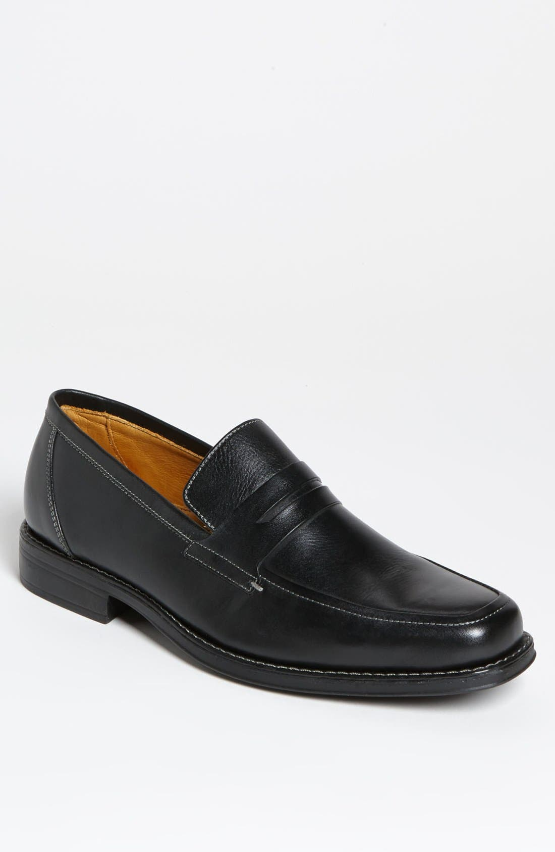 'Stuart' Penny Loafer,                             Main thumbnail 1, color,                             BLACK