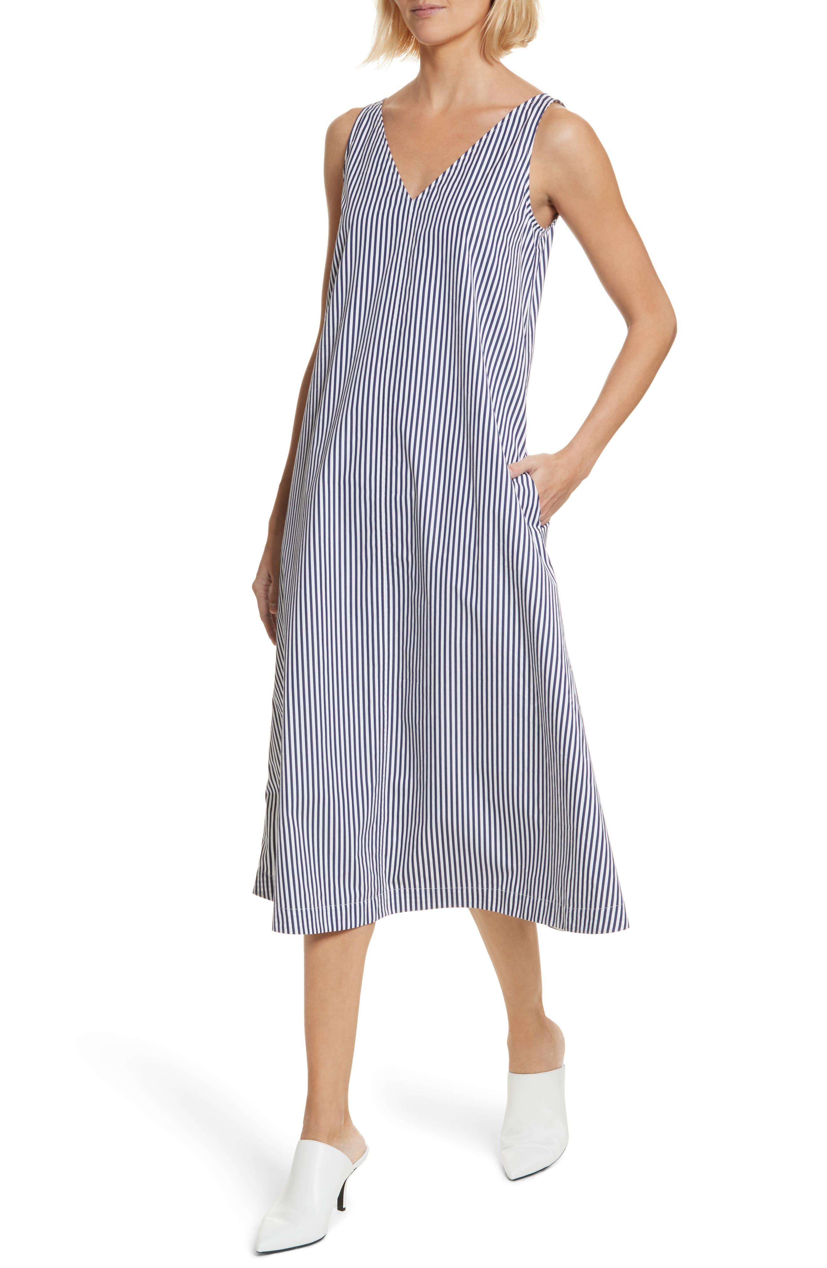 Davey Candy Stripe Shift Dress,                             Alternate thumbnail 4, color,                             456