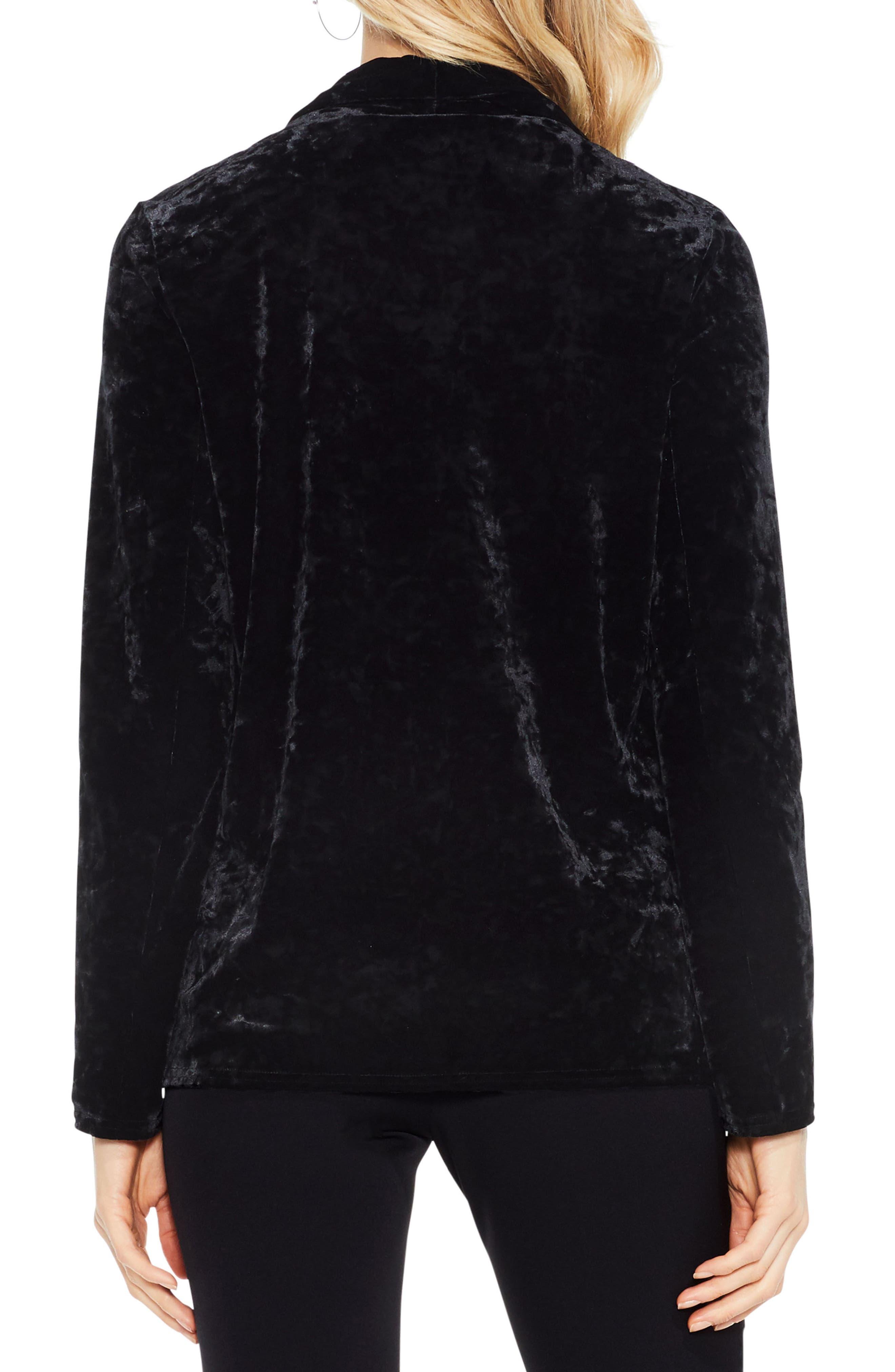 Velvet Drape Collar Jacket,                             Alternate thumbnail 3, color,
