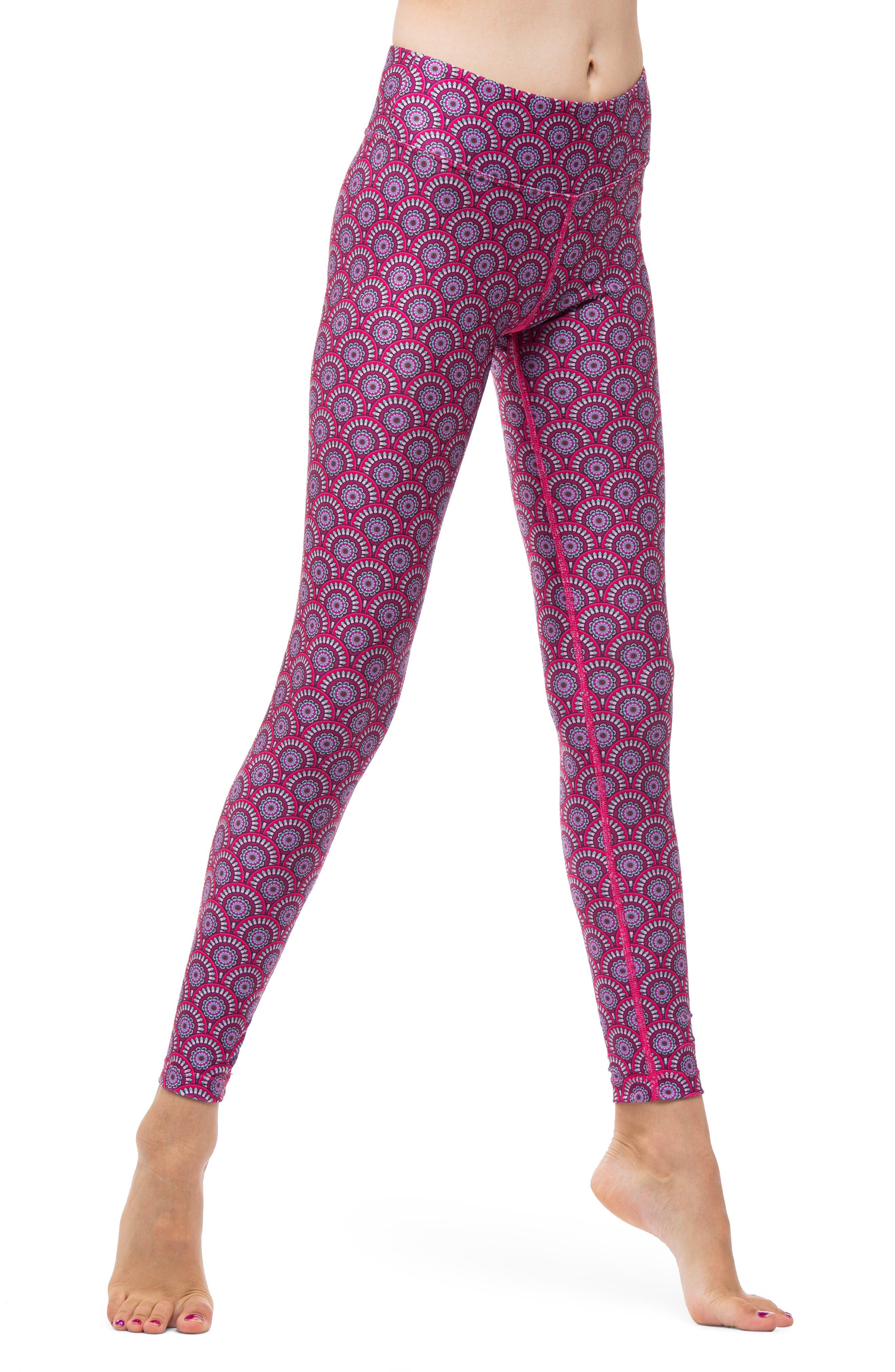 Mandala Leggings,                         Main,                         color, PINK MANDALA
