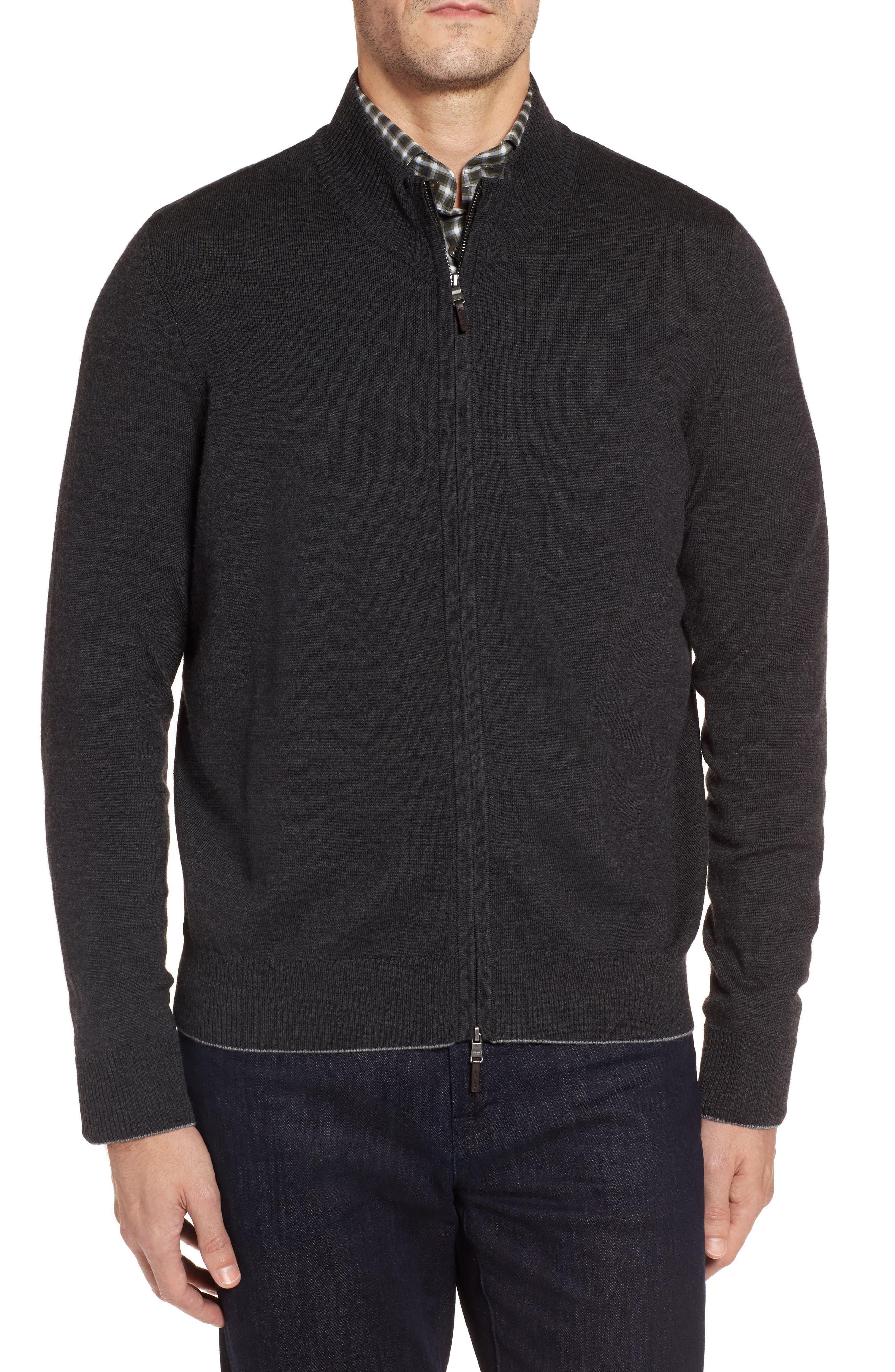 Merino Blend Full Zip Cardigan,                         Main,                         color, 020