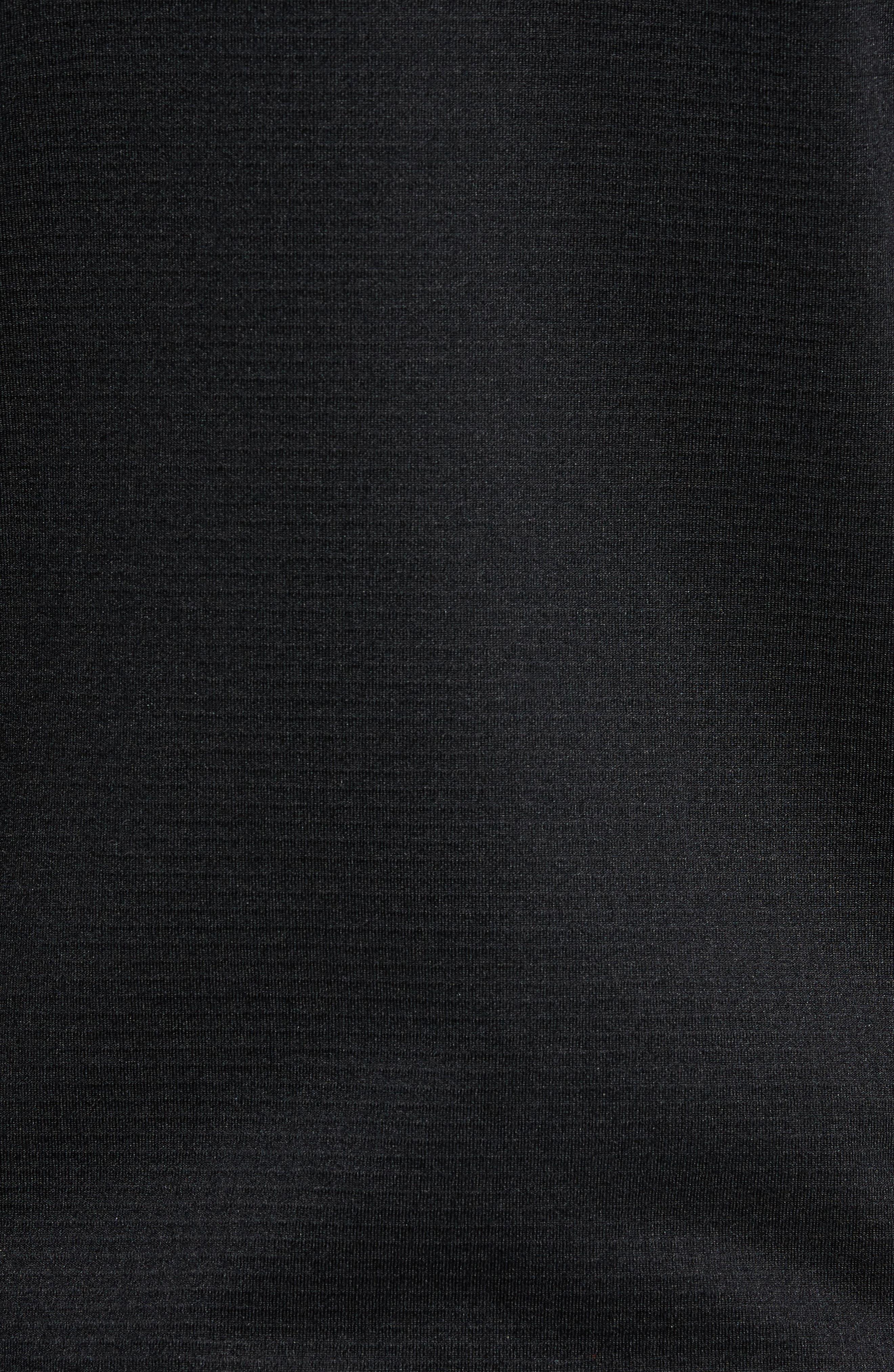 Borod Zip Fleece Jacket,                             Alternate thumbnail 6, color,                             BLACK/ BLACK