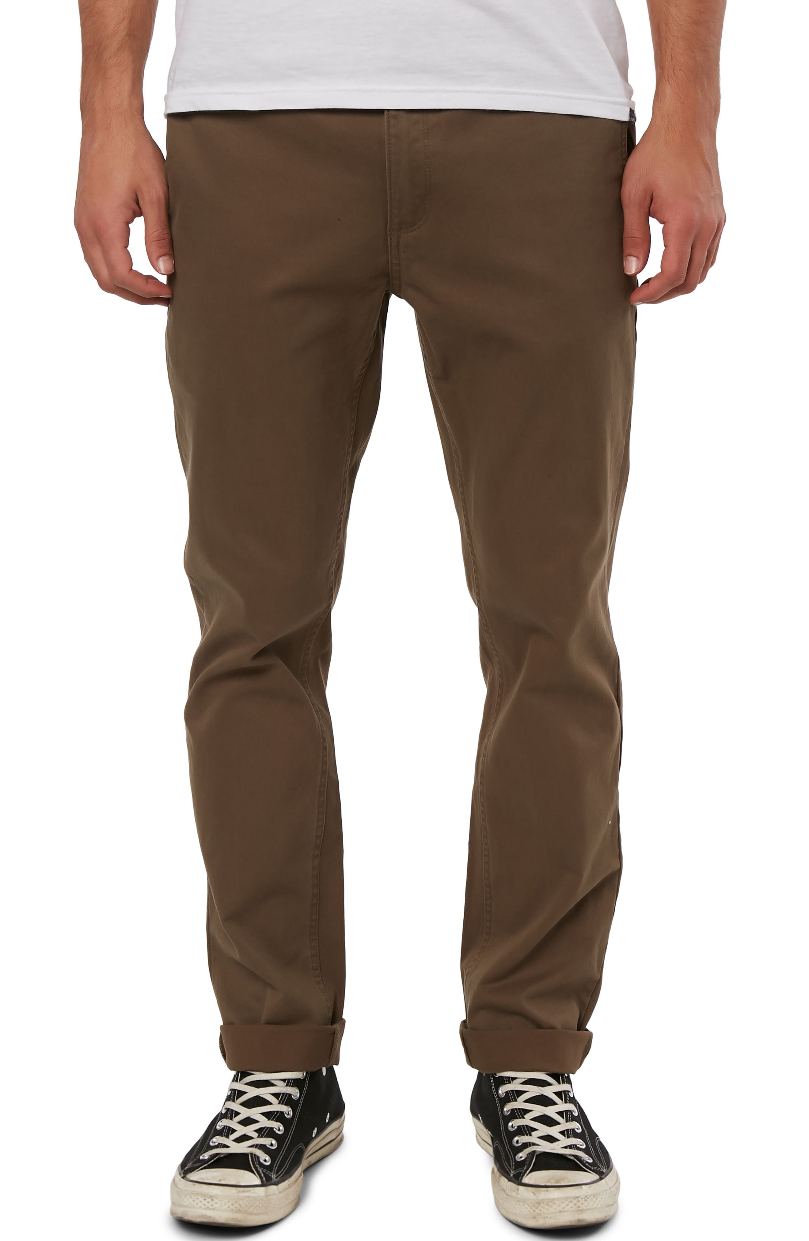 Mission Stretch Chino Pants,                             Main thumbnail 1, color,                             MILITARY GREEN