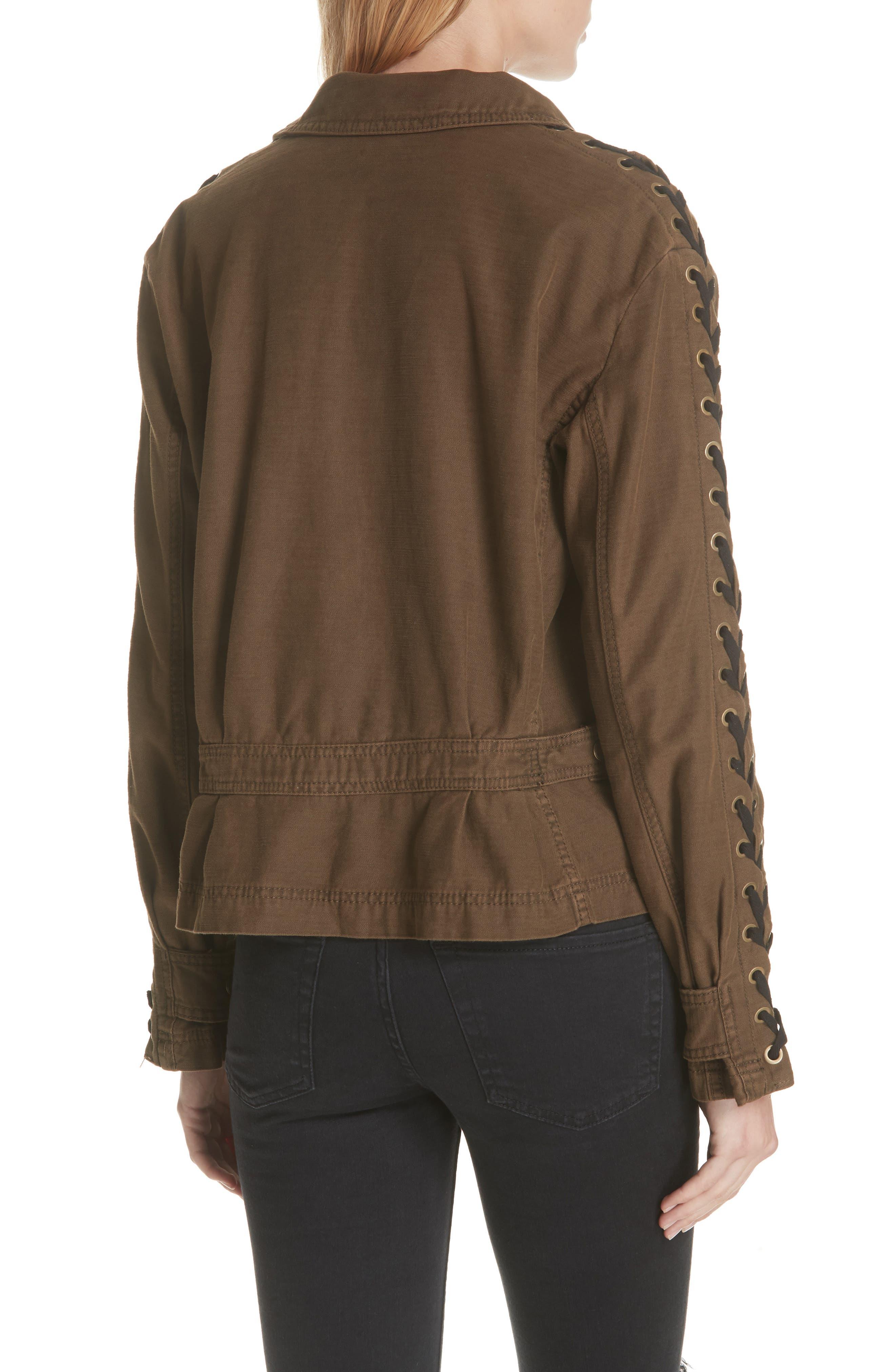 Faye Military Jacket,                             Alternate thumbnail 4, color,