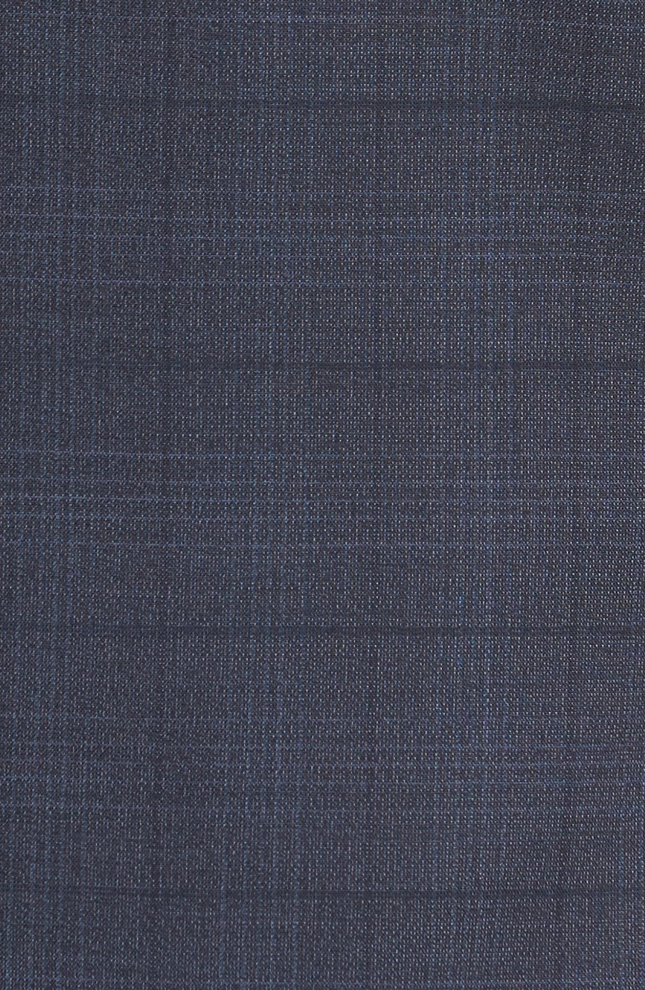 Extra Trim Fit Plaid Wool Suit,                             Alternate thumbnail 7, color,