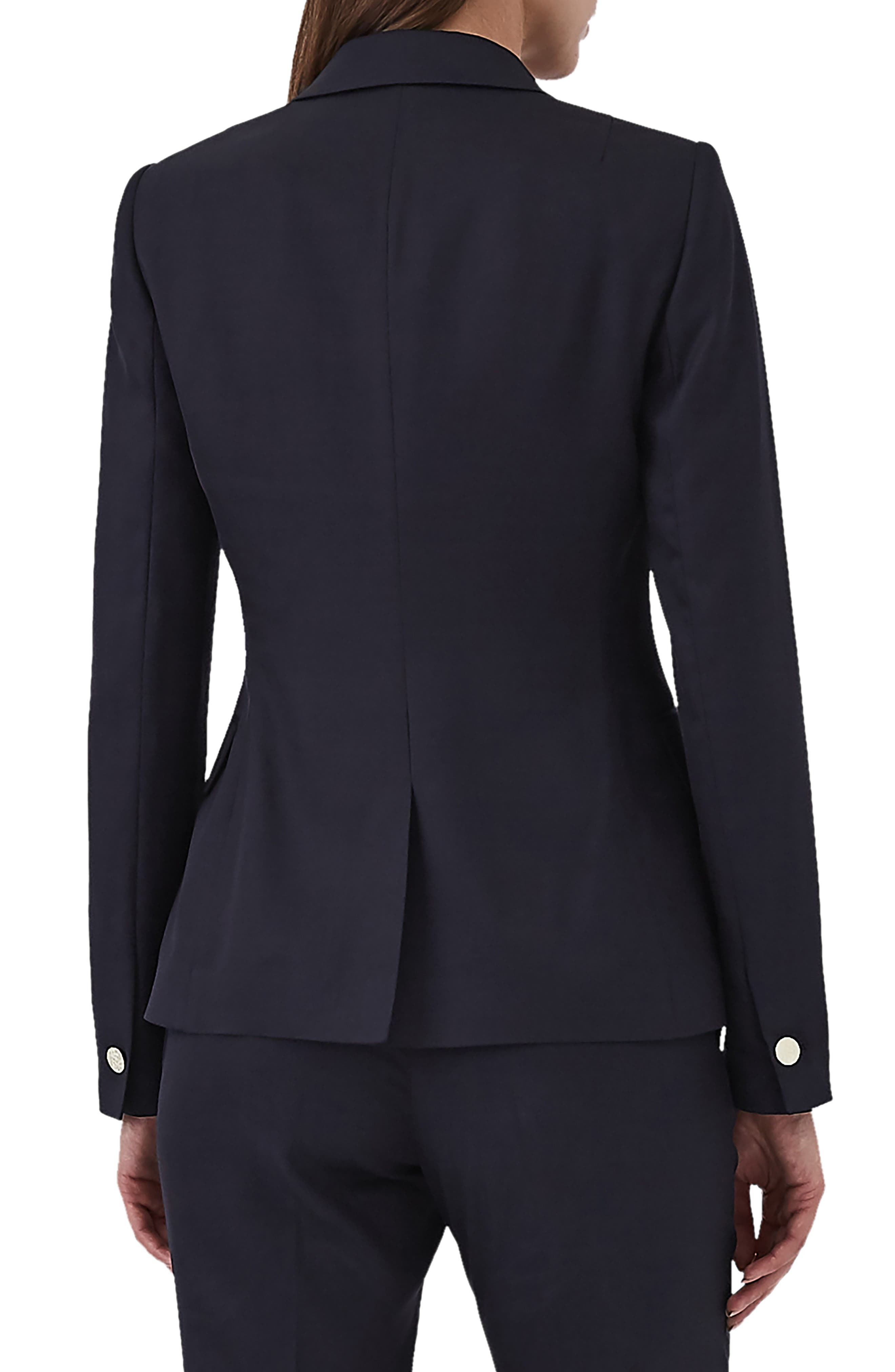 Tally Double Breasted Wool Blend Jacket,                             Alternate thumbnail 2, color,                             BLUE