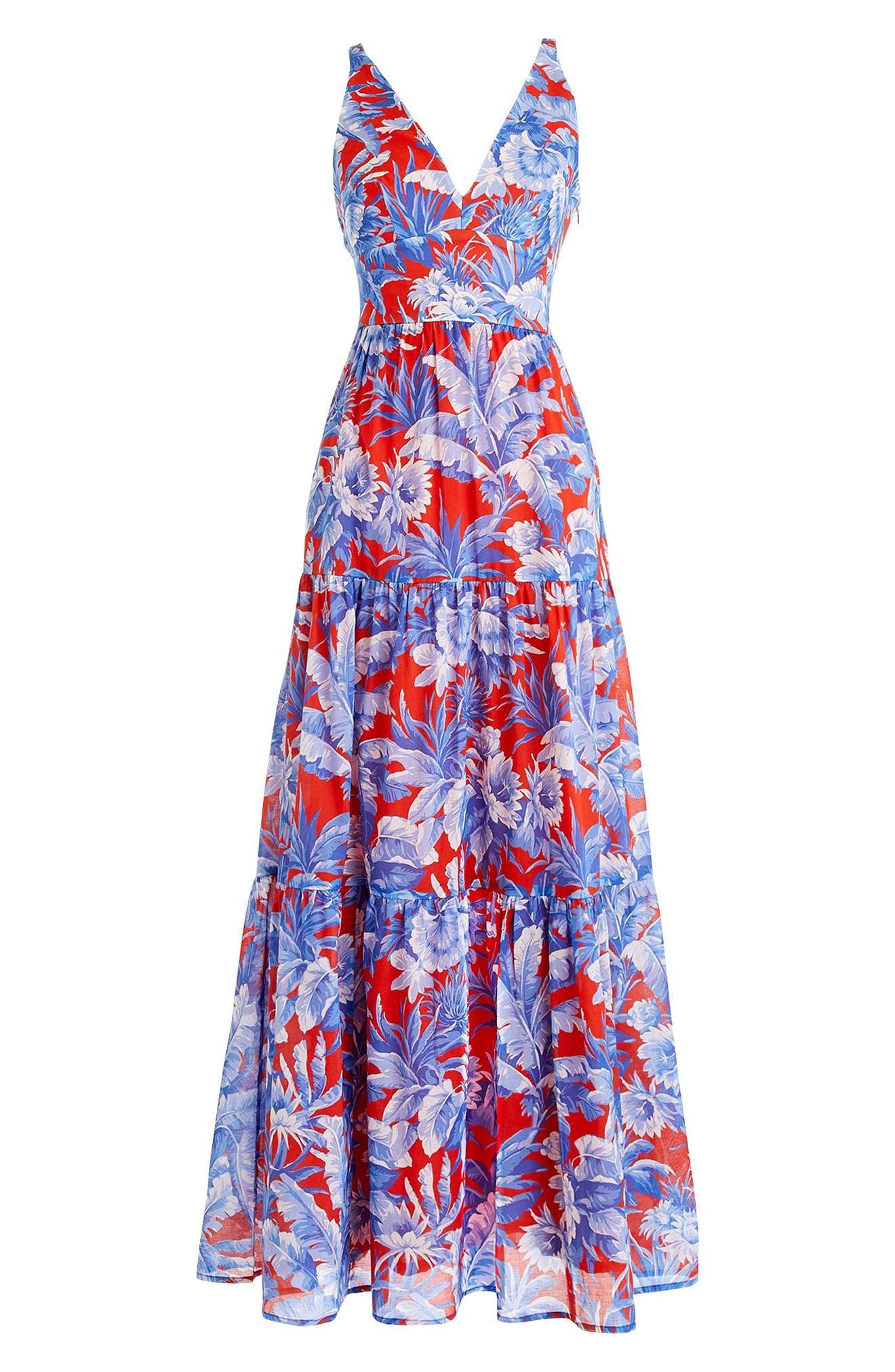 Ratti V-Neck Maxi Dress,                             Alternate thumbnail 3, color,                             400