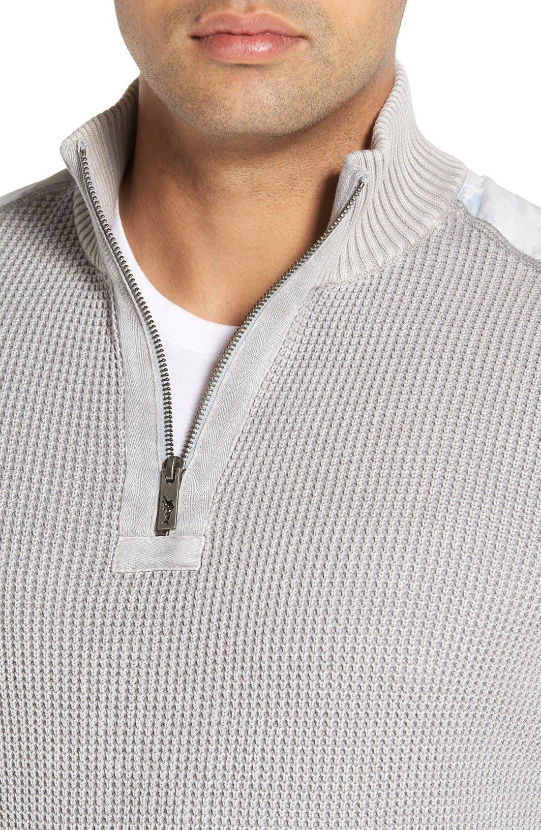 'Coastal Shores' Quarter Zip Sweater,                             Alternate thumbnail 31, color,