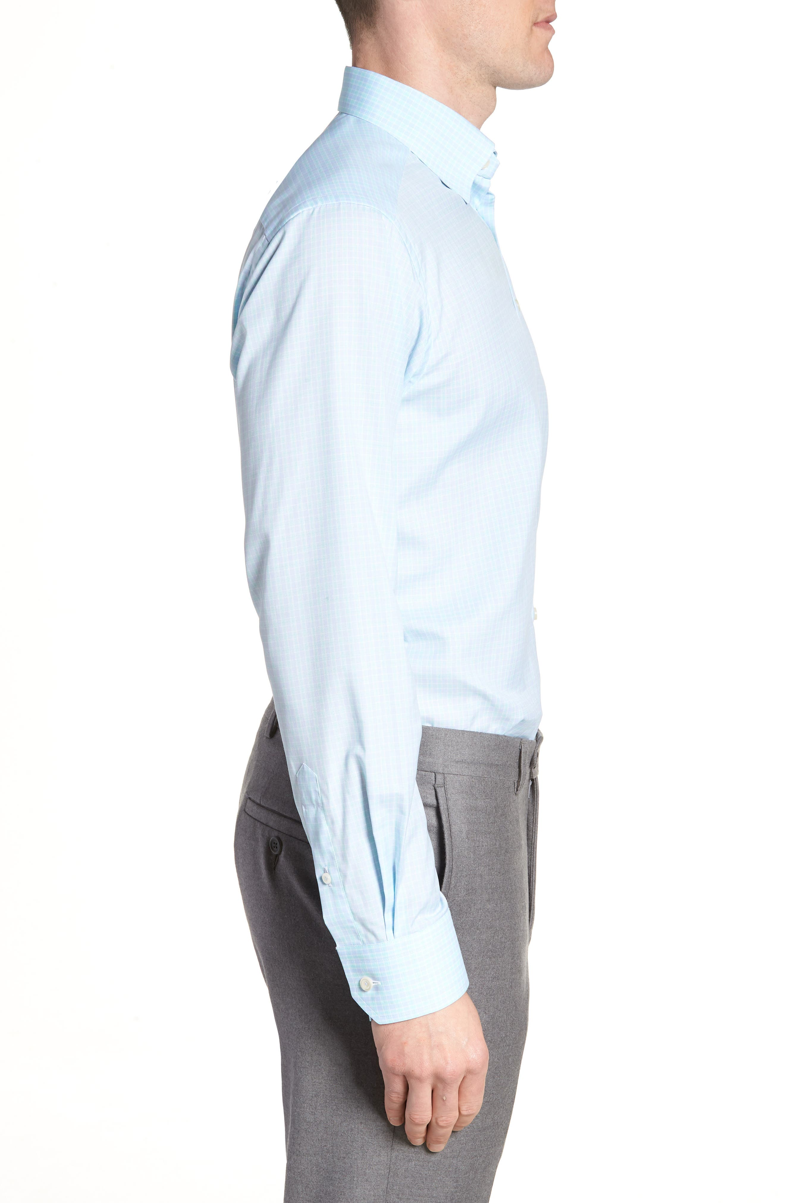 Contemporary Fit Plaid Dress Shirt,                             Alternate thumbnail 4, color,                             400