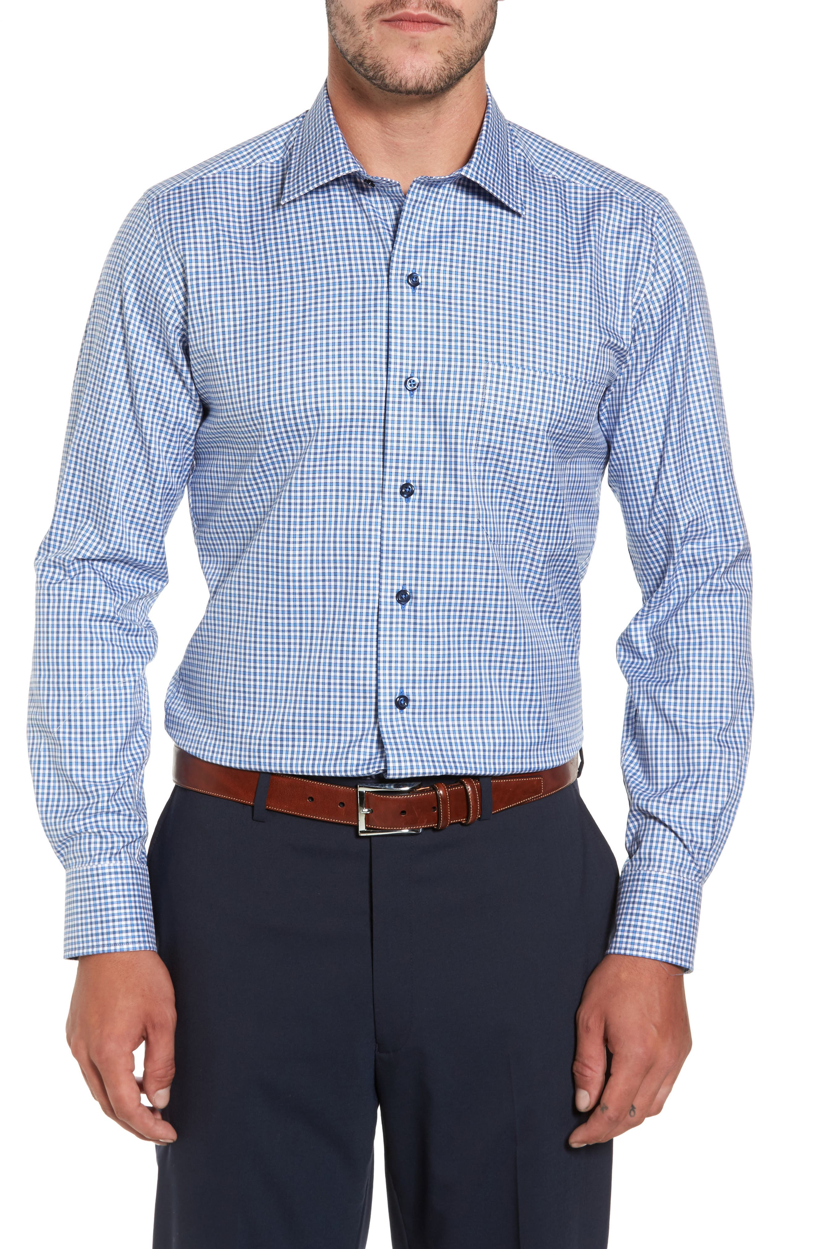 Plaid Regular Fit Sport Shirt,                         Main,                         color, 423