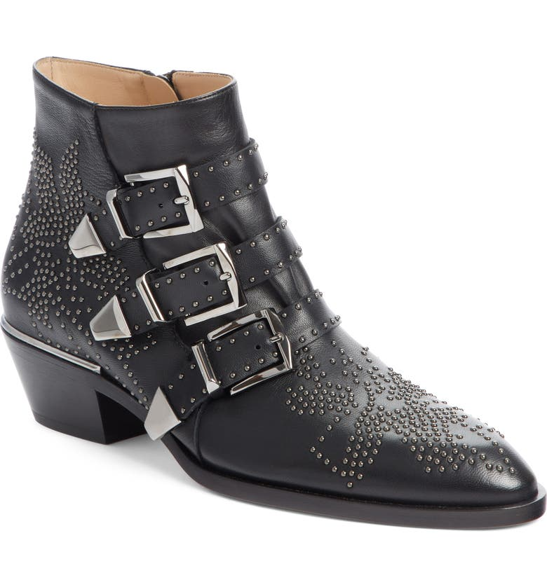 Searching for Chloé Susanna Stud Buckle Bootie (Women) Buy & Reviews