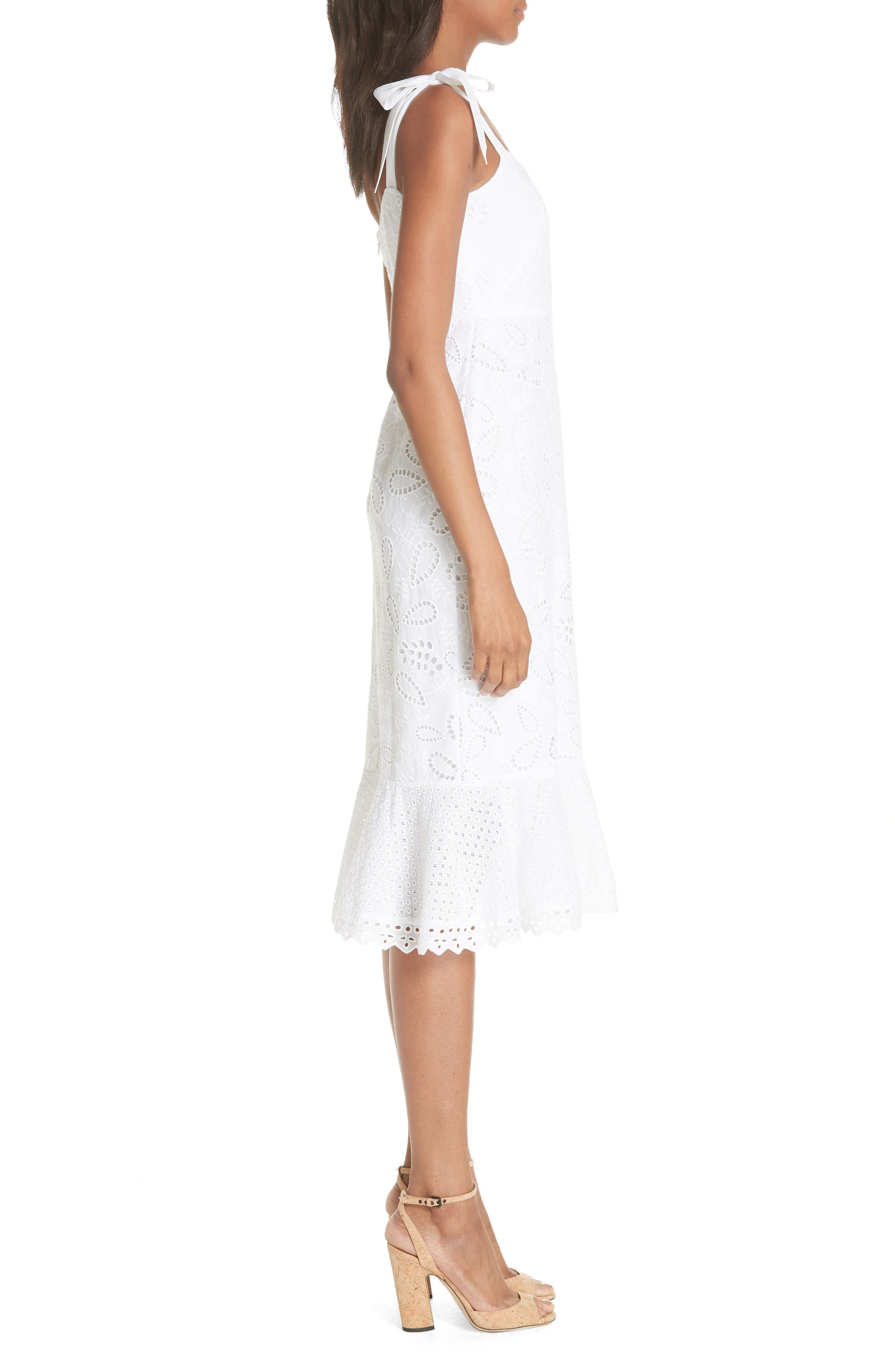 SALONI,                             Rosie Eyelet Dress,                             Alternate thumbnail 3, color,                             101