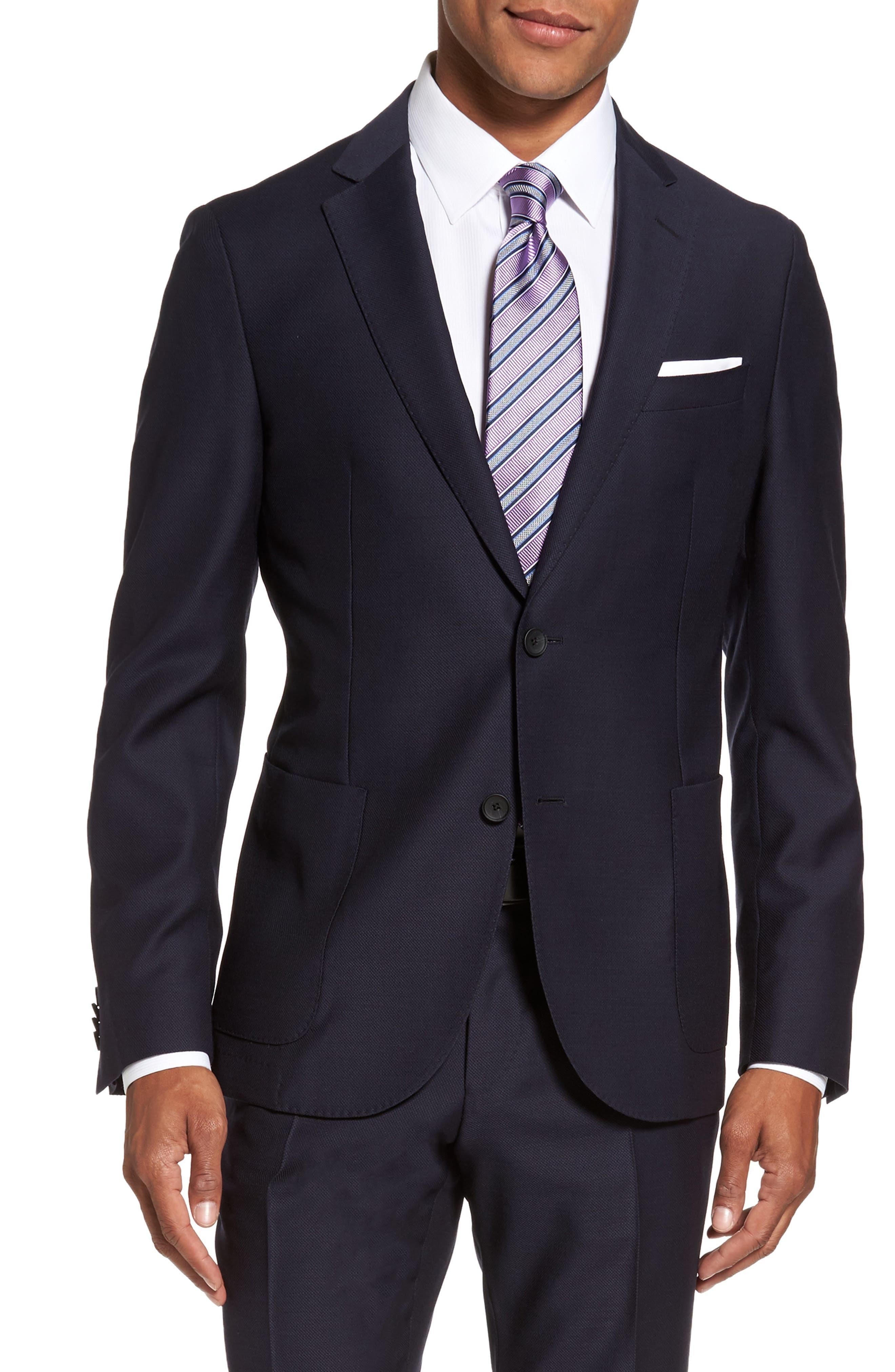 Novan/Ben Classic Fit Solid Wool Suit,                             Alternate thumbnail 5, color,                             410