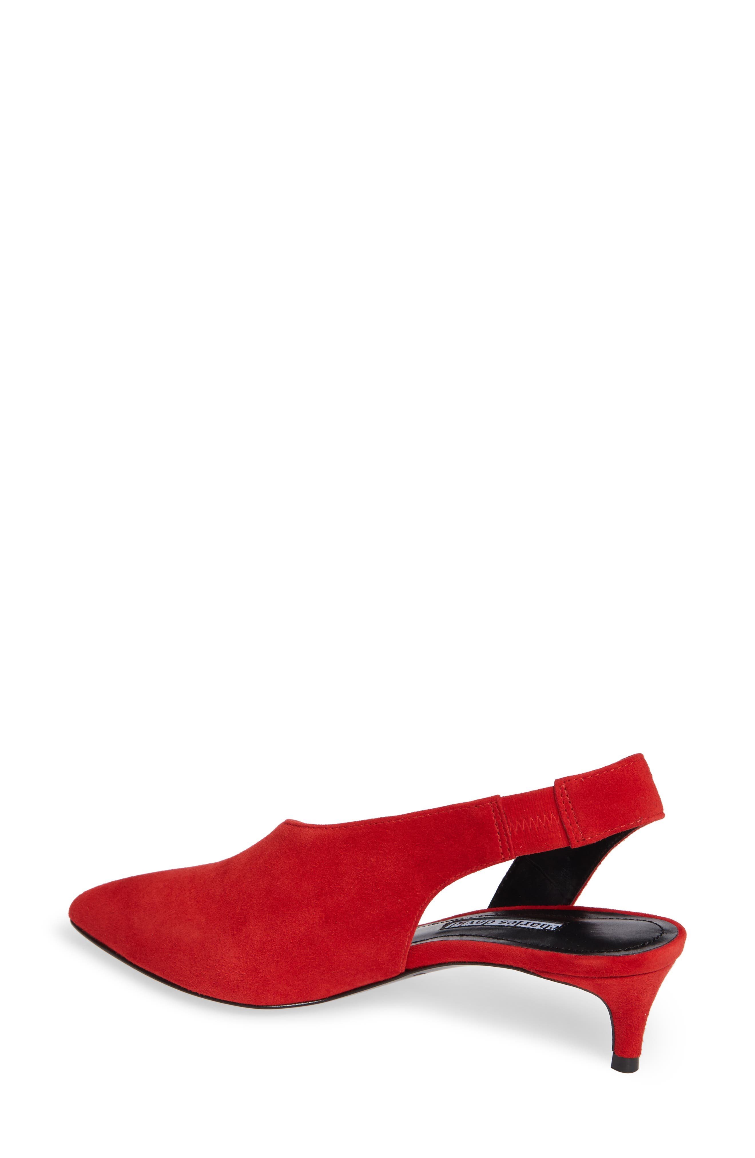 Picasso Asymmetrical Slingback Pump,                             Alternate thumbnail 2, color,                             RED SUEDE