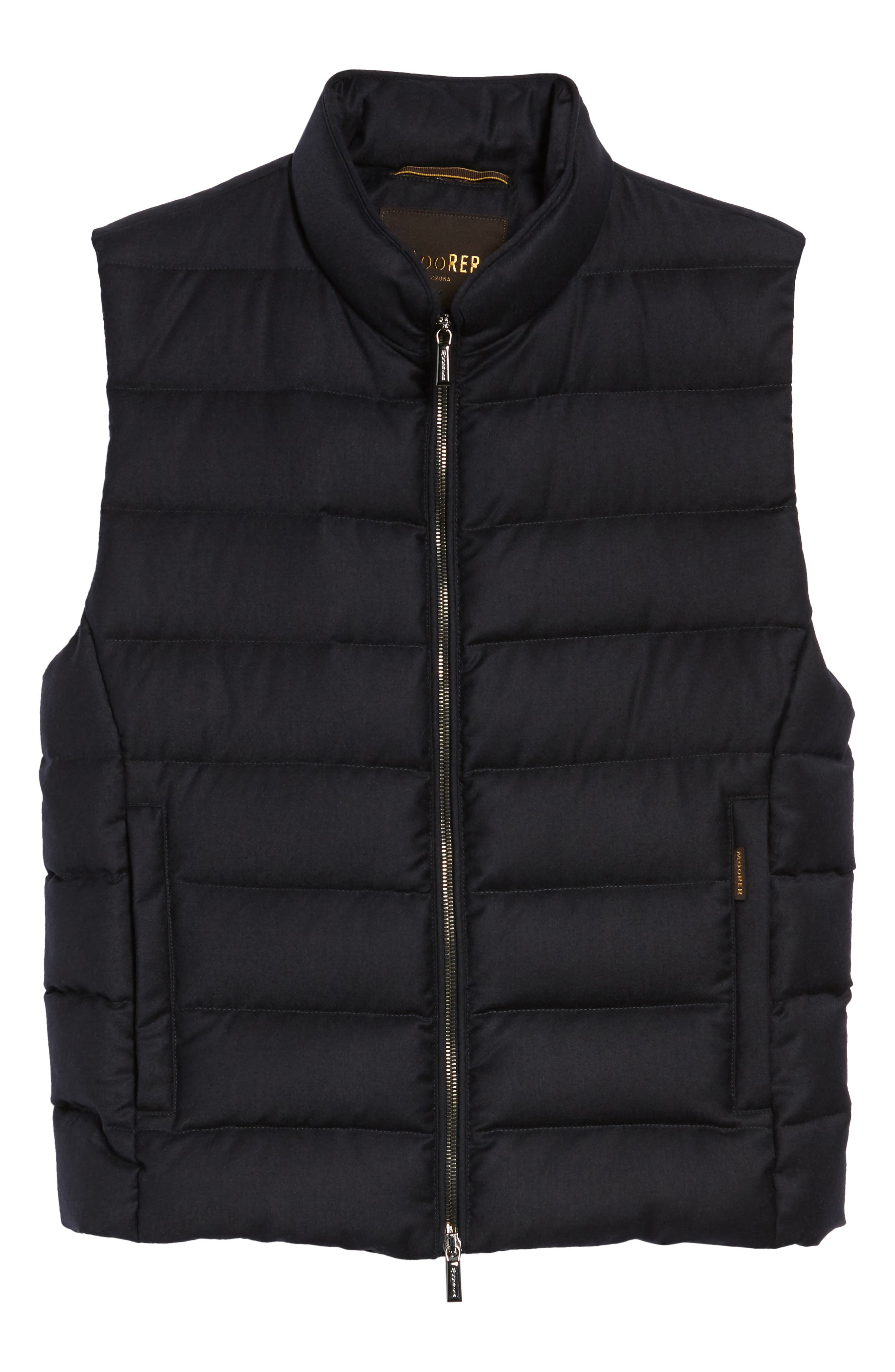 Oliver L Wool & Cashmere Flannel Waterproof Vest,                             Alternate thumbnail 5, color,                             402