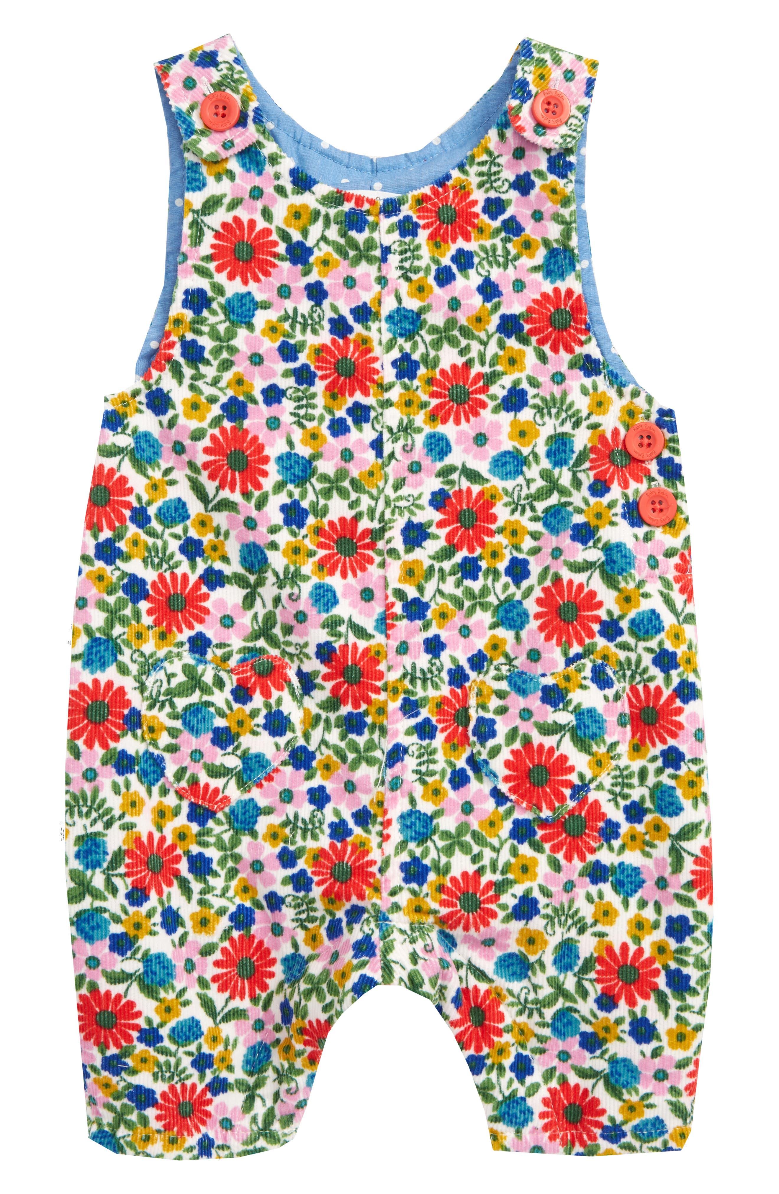 Toddler Girls Mini Boden Heart Pocket Romper Size 23Y  Blue