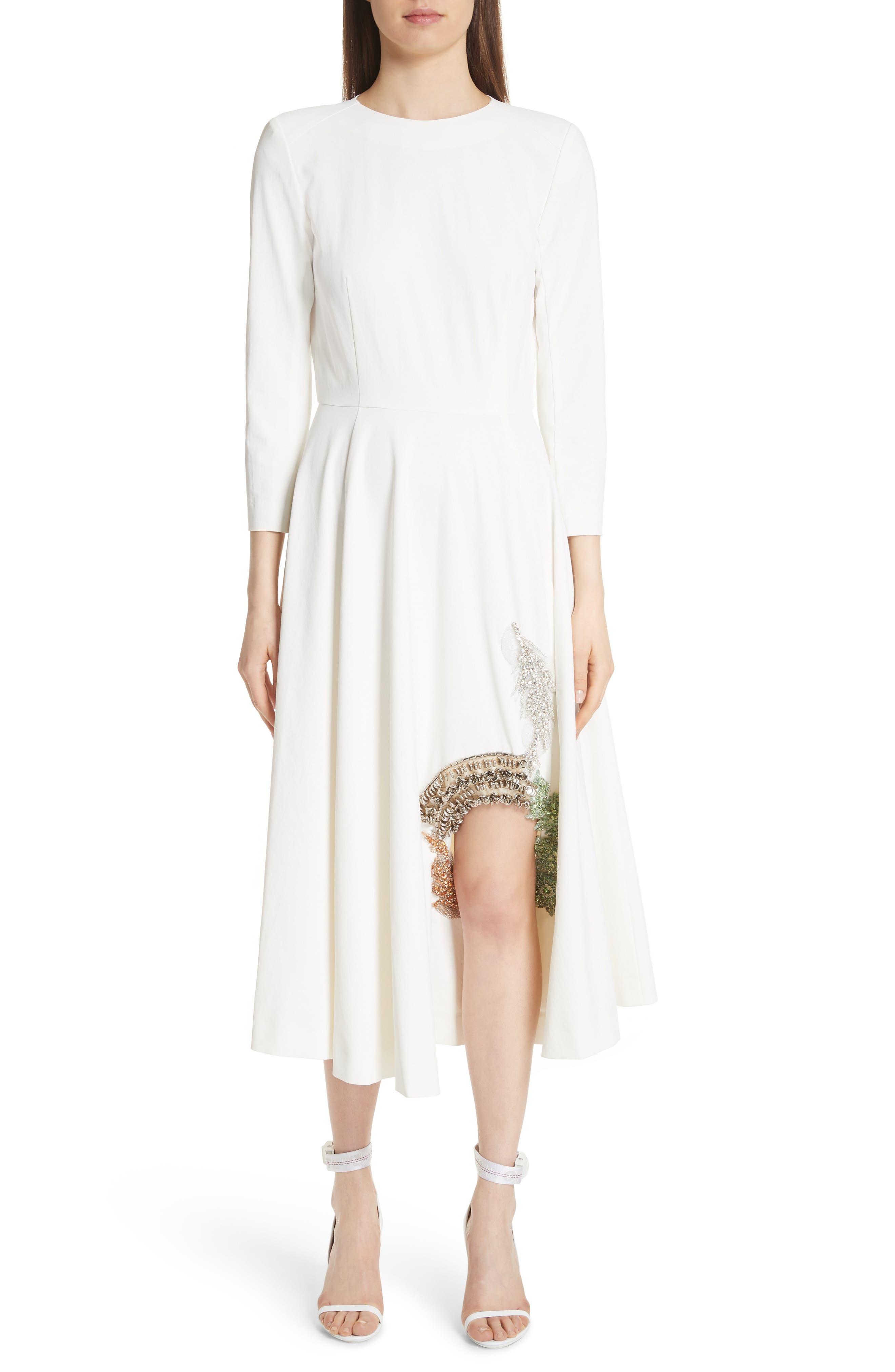 Beaded Keyhole Dress,                             Alternate thumbnail 3, color,                             100