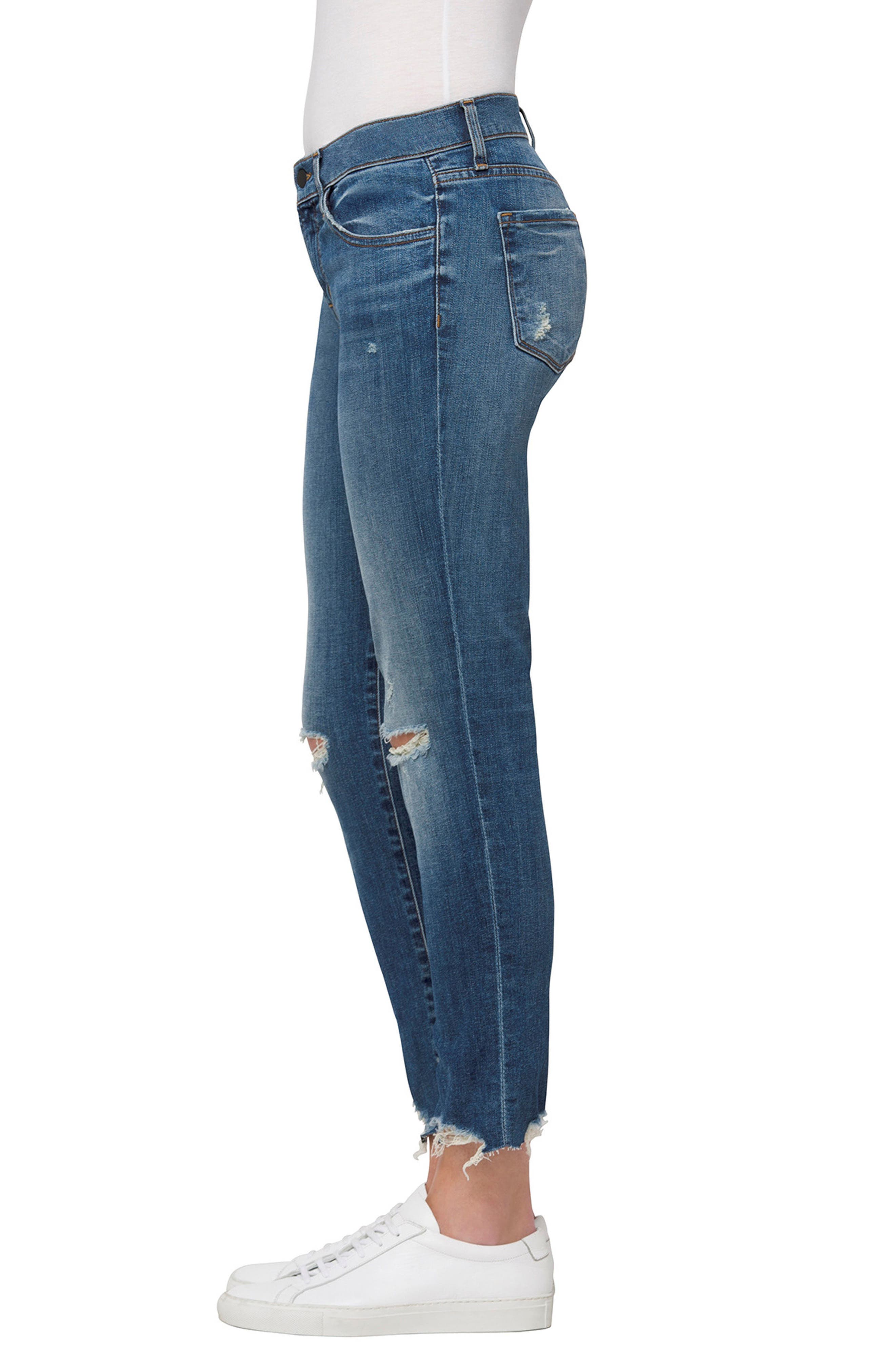 Sadey Crop Slim Straight Leg Jeans,                             Alternate thumbnail 3, color,