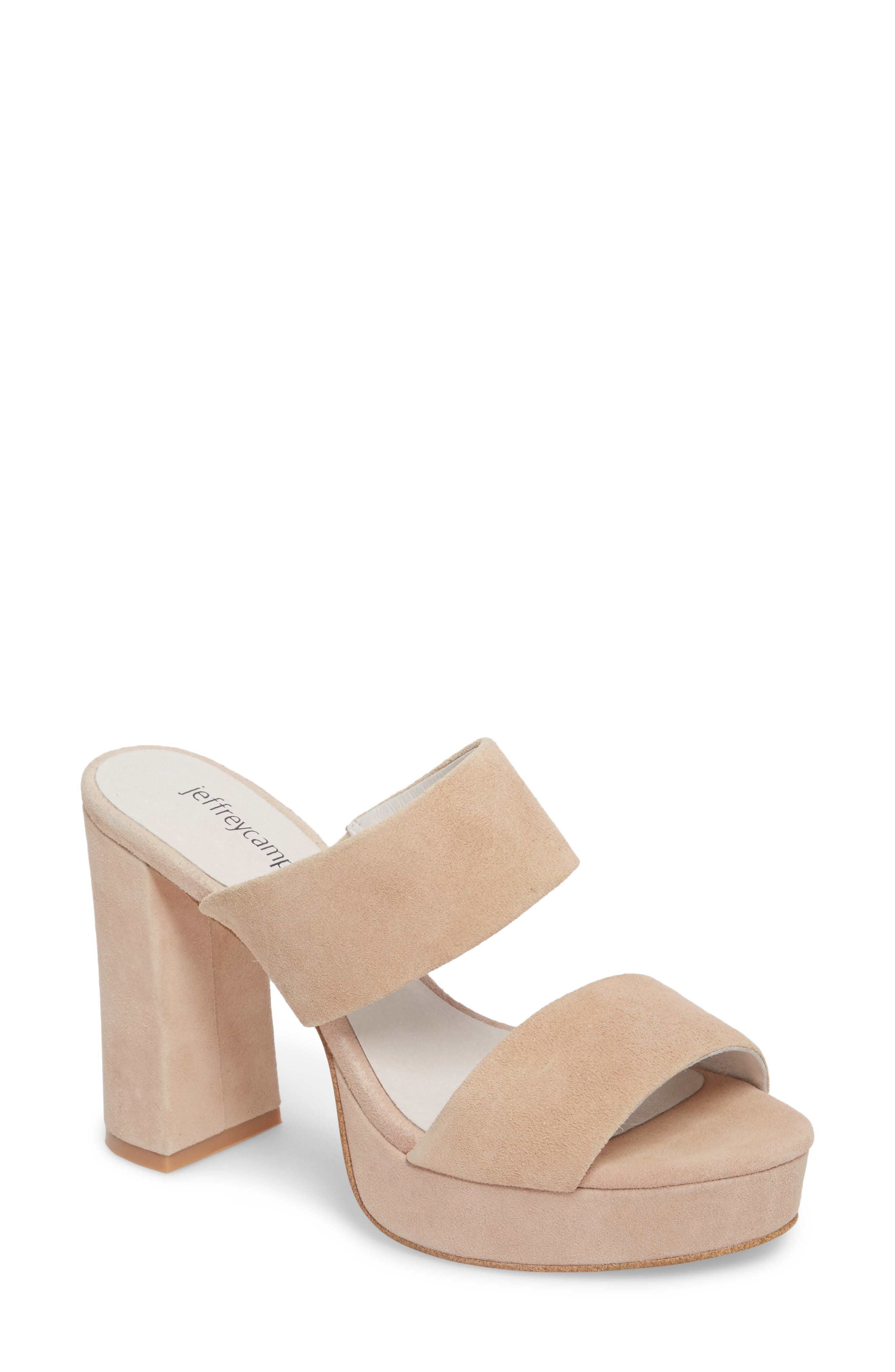 Jeffrey Campbell Adriana Double Band Platform Sandal, Pink