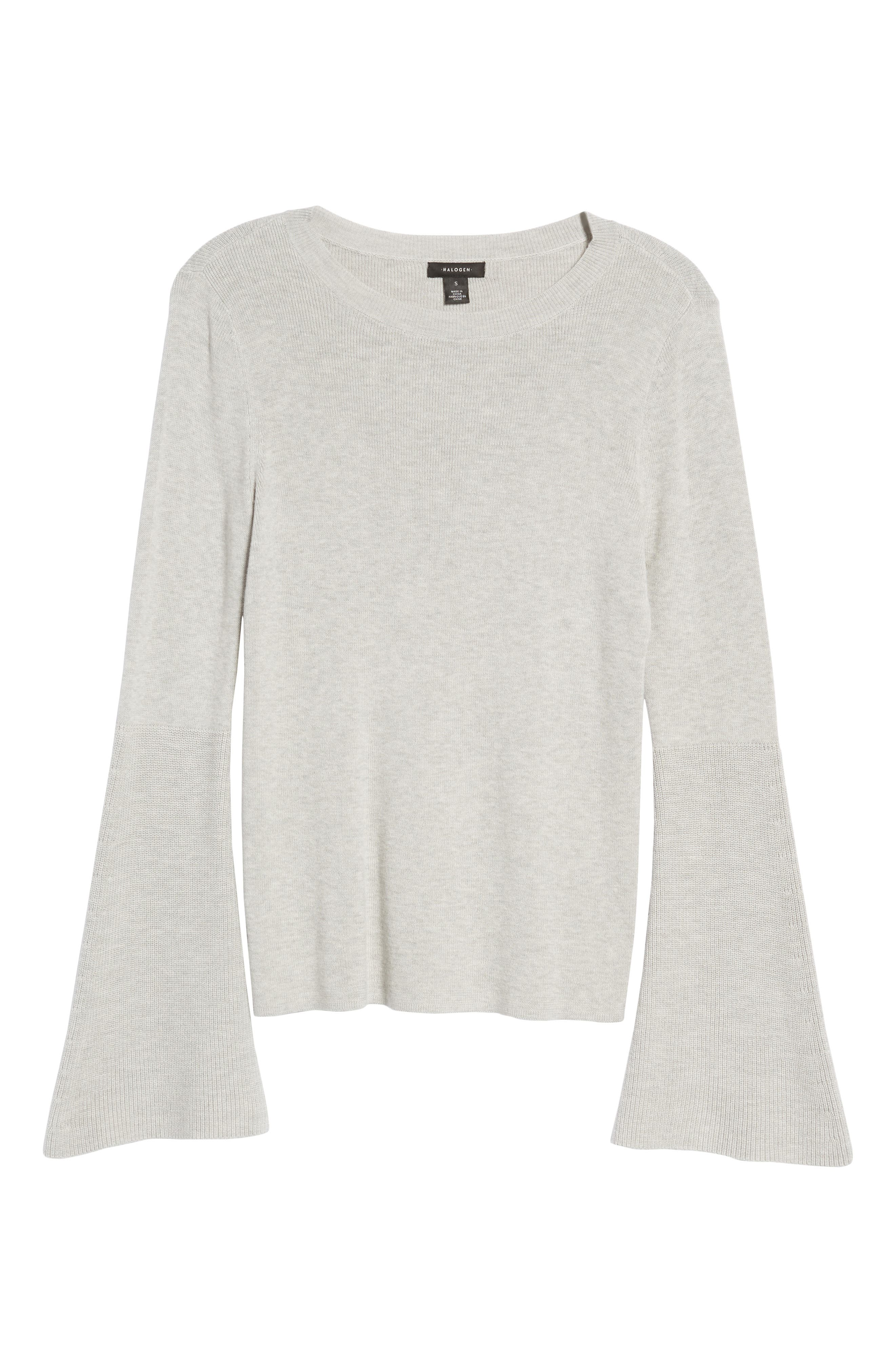 Bell Sleeve Rib Sweater,                             Alternate thumbnail 22, color,