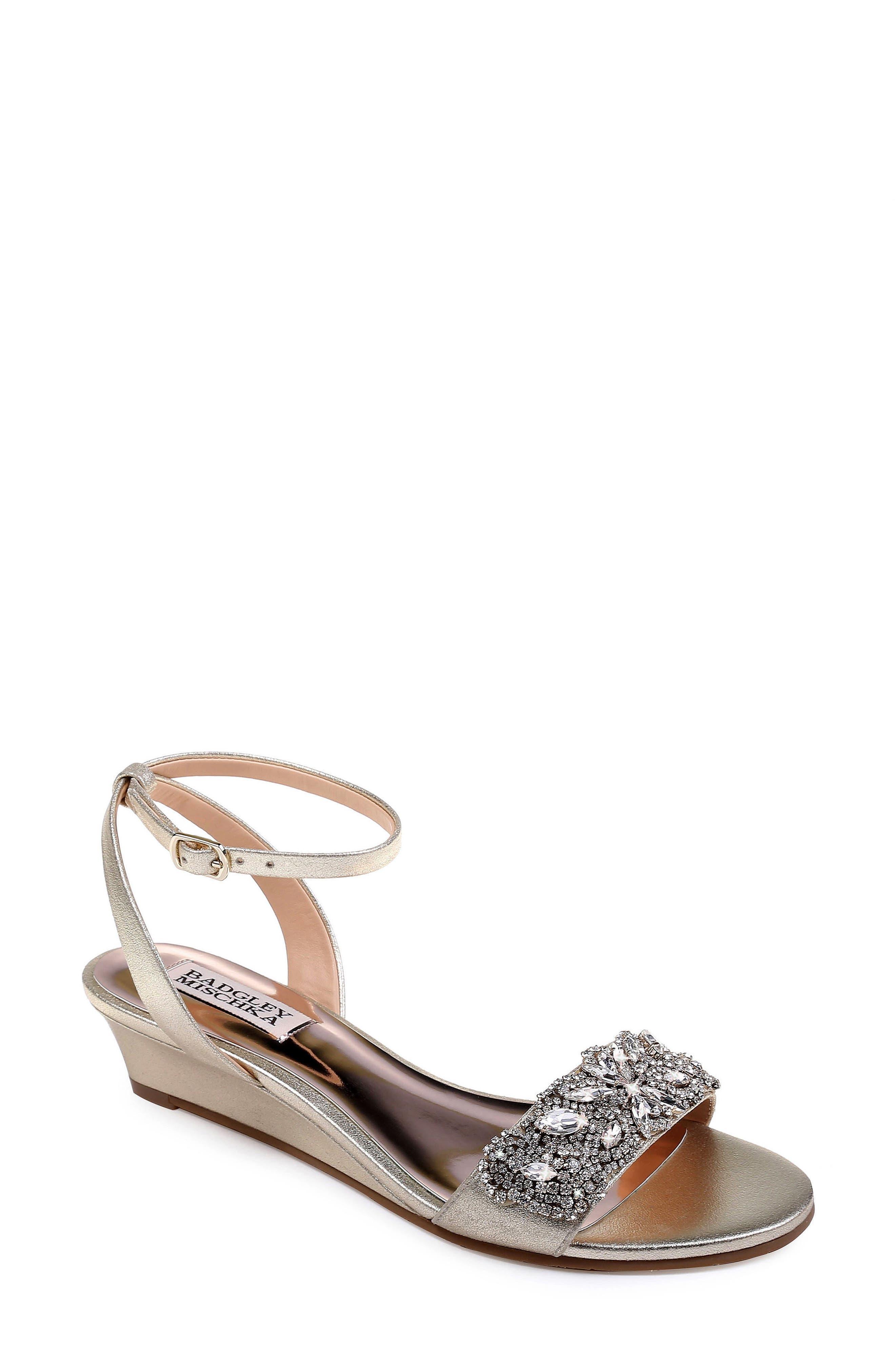 Badgley Mischka Hatch Crystal Embellished Sandal